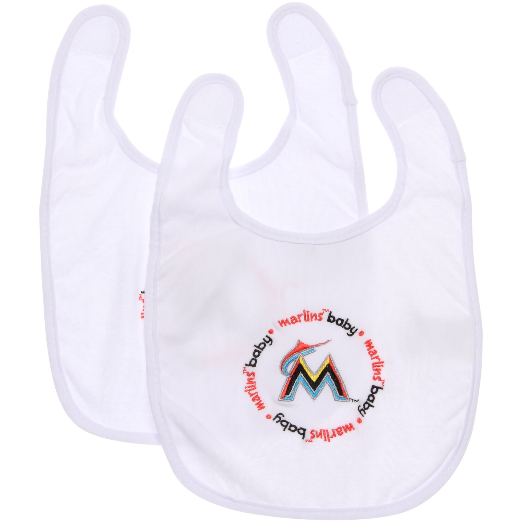 Miami Marlins Infant Bib - White