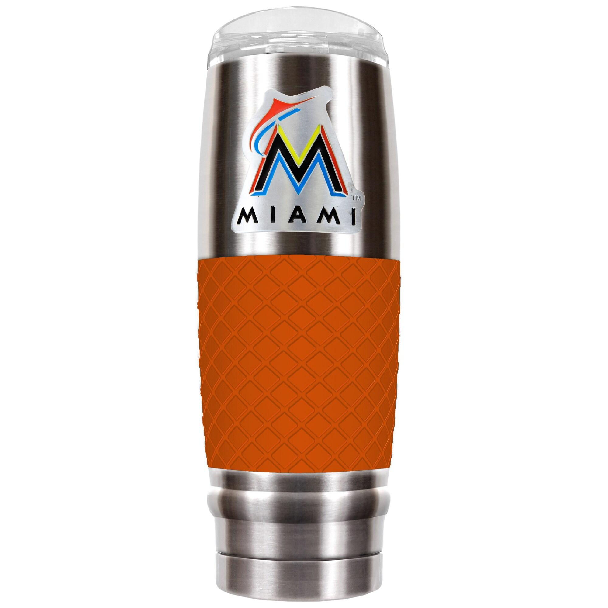 Miami Marlins 30oz. The Reserve Vacuum-Insulated Travel Tumbler - Orange