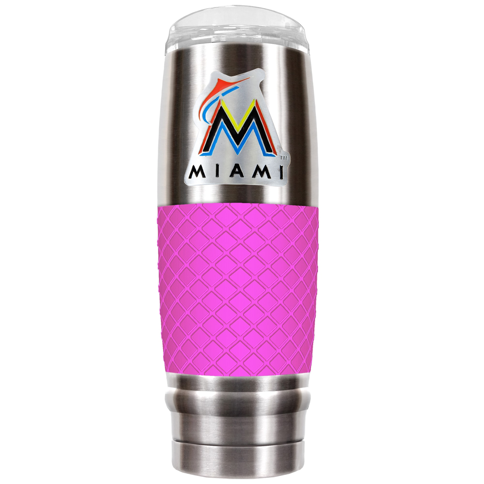 Miami Marlins 30oz. The Reserve Vacuum-Insulated Travel Tumbler - Pink