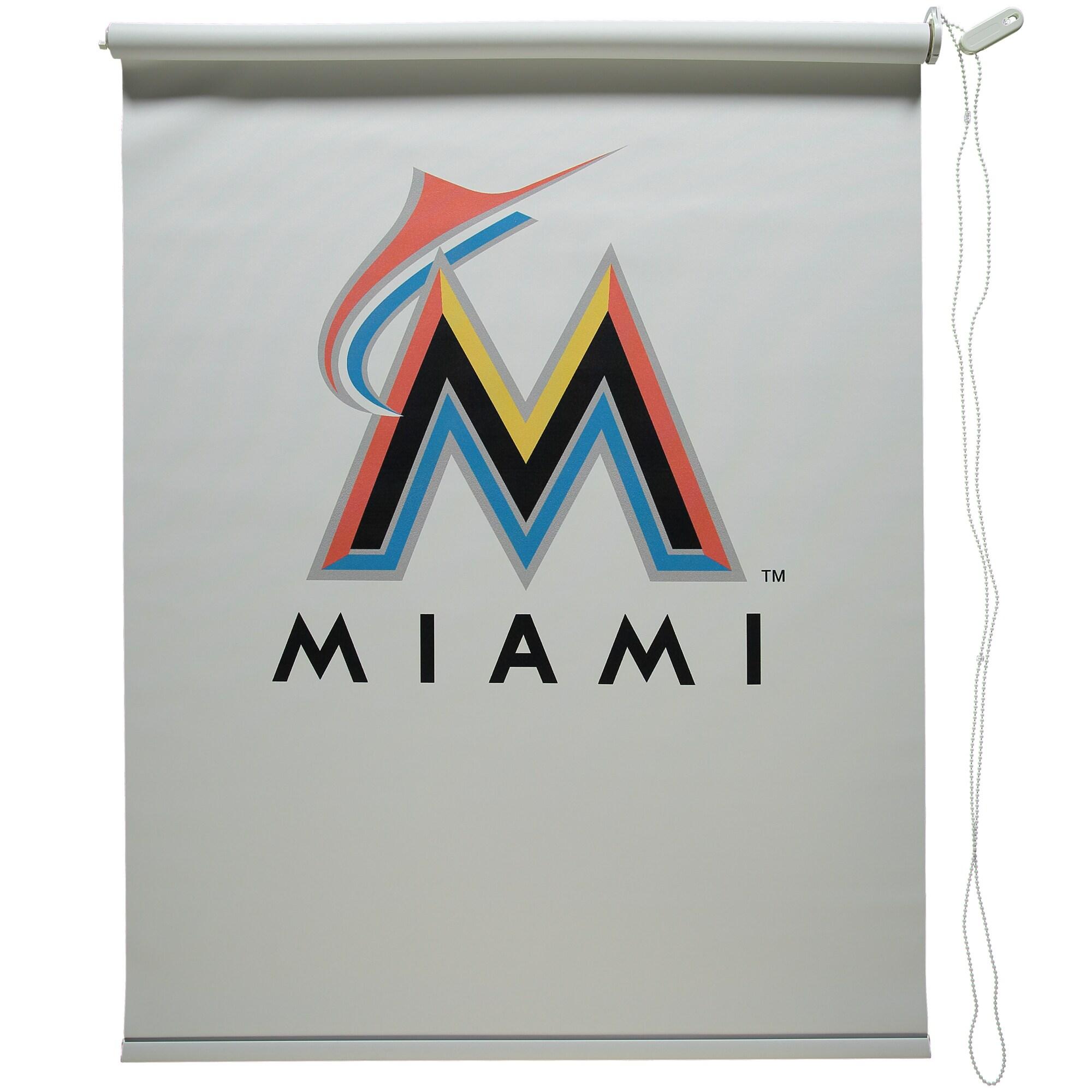"Miami Marlins 36"" x 60"" Shade - White"