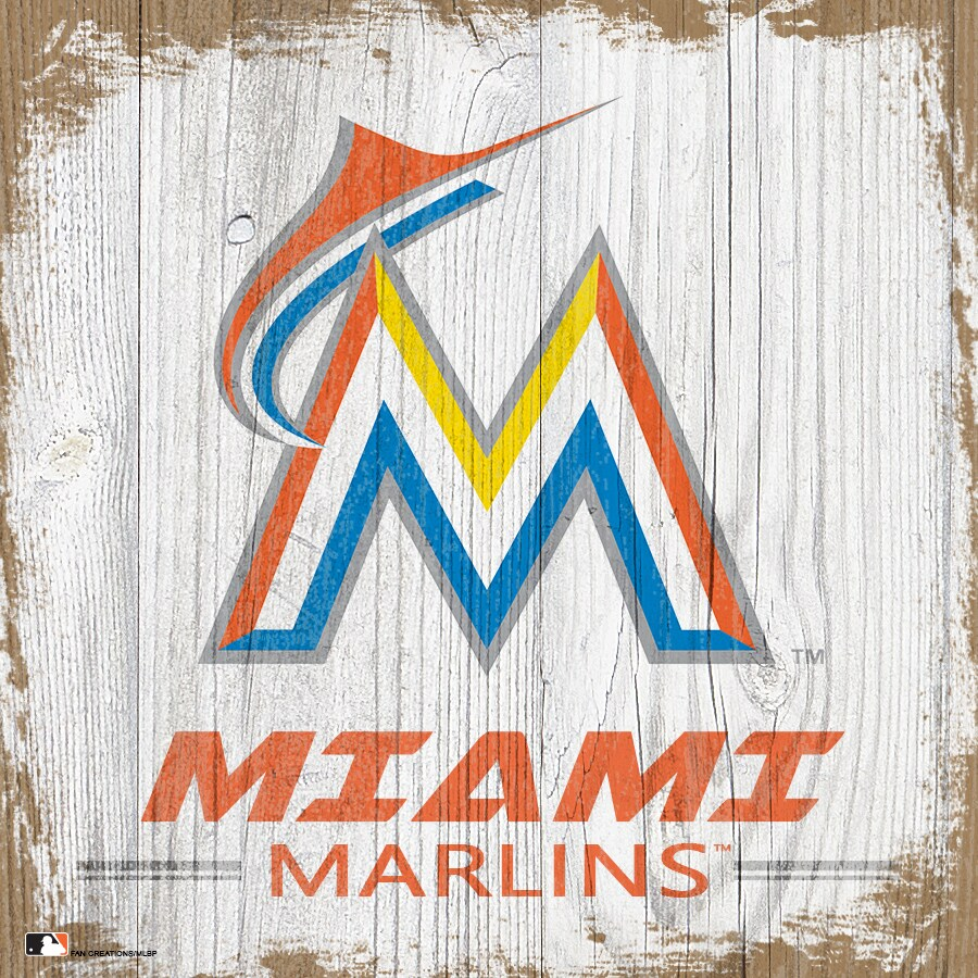 Miami Marlins 6'' x 6'' Team Logo Block