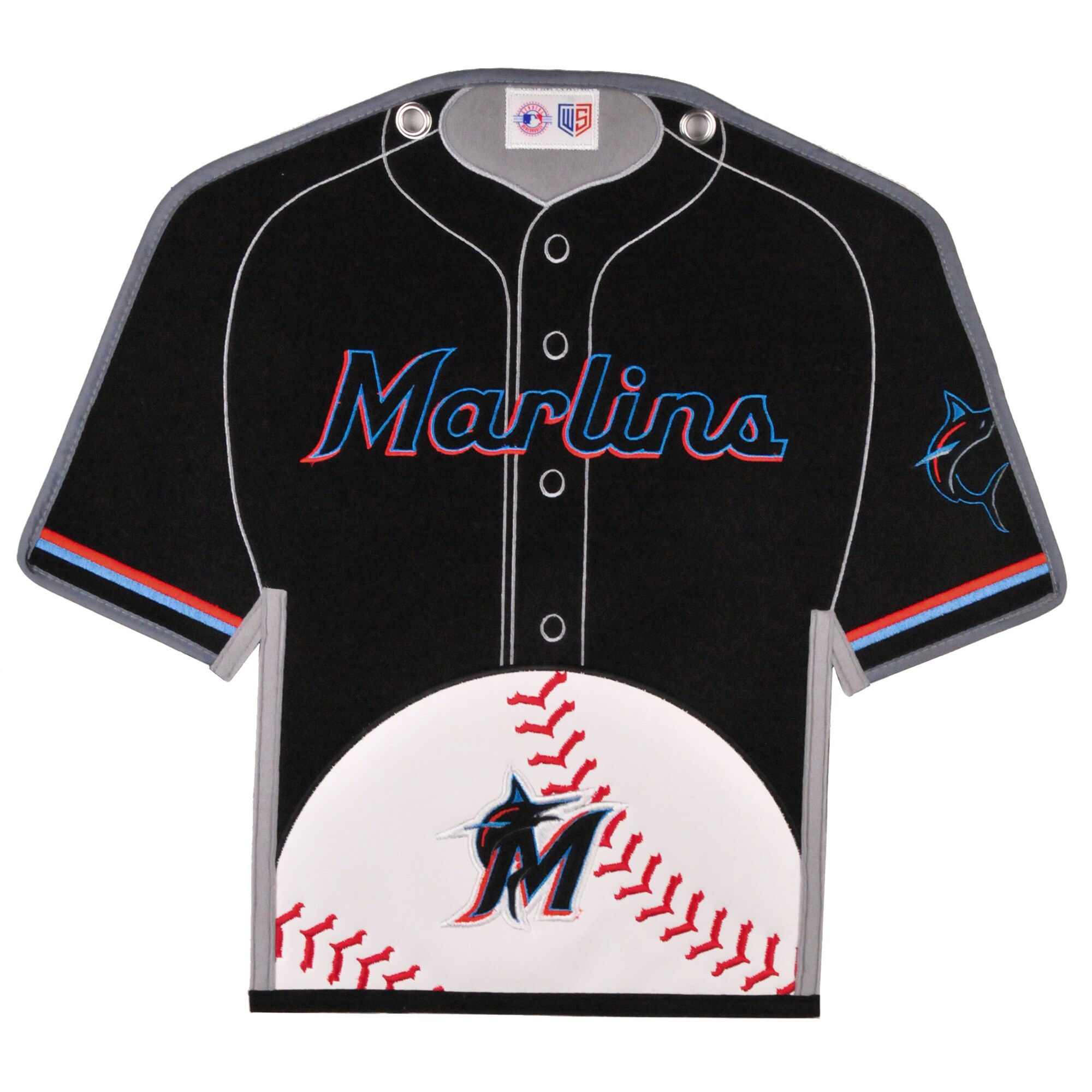 Miami Marlins 14'' x 22'' Jersey Traditions Banner - Black/Teal