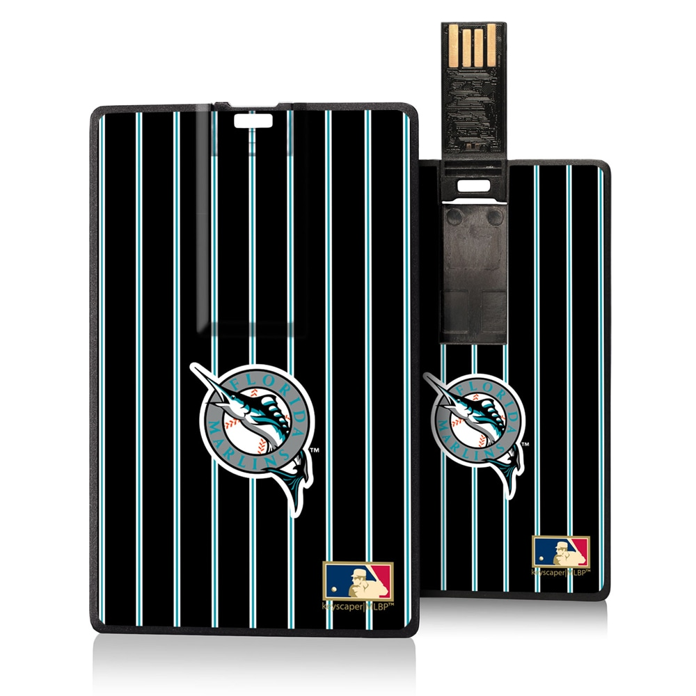 Miami Marlins 1993-2011 Cooperstown Pinstripe Credit Card USB Drive
