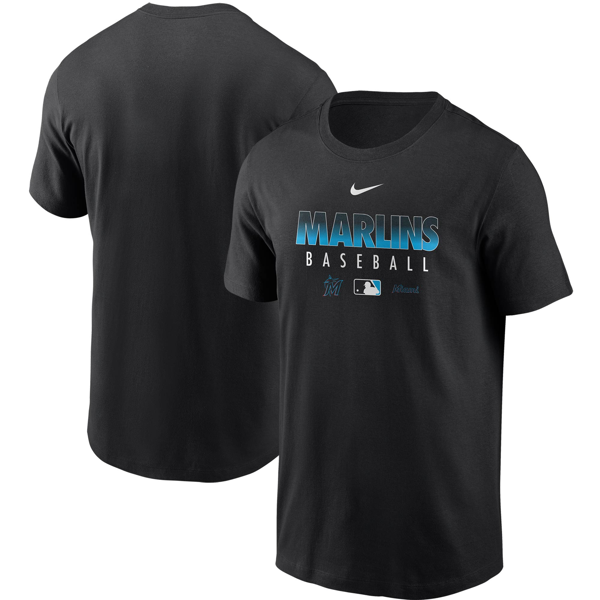 Miami Marlins Nike Authentic Collection Team Performance T-Shirt - Black