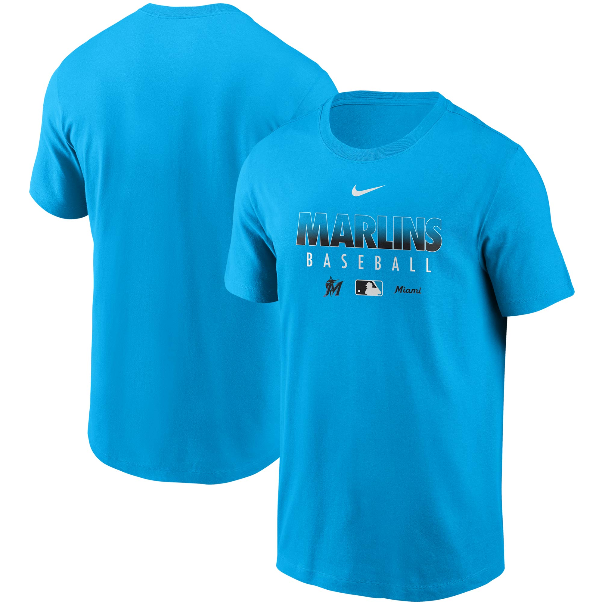 Miami Marlins Nike Authentic Collection Team Performance T-Shirt - Blue