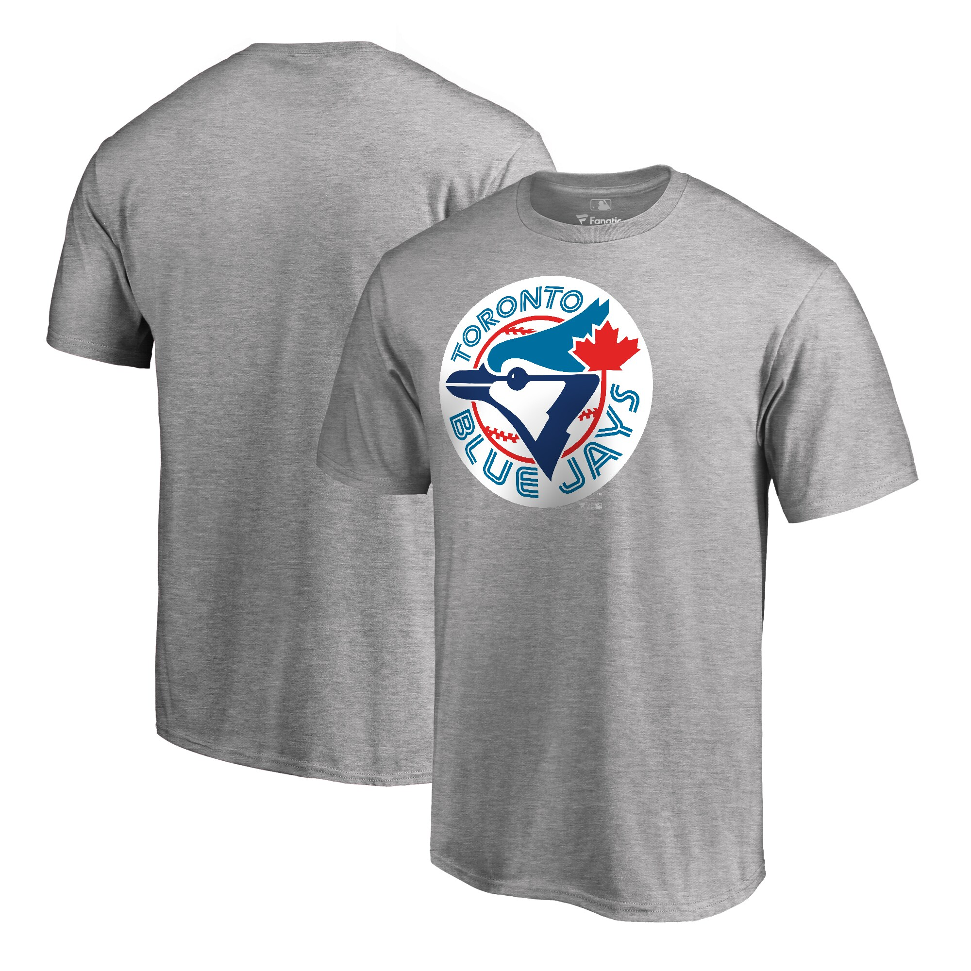 Toronto Blue Jays Fanatics Branded Big & Tall Cooperstown Collection Huntington T-Shirt - Ash
