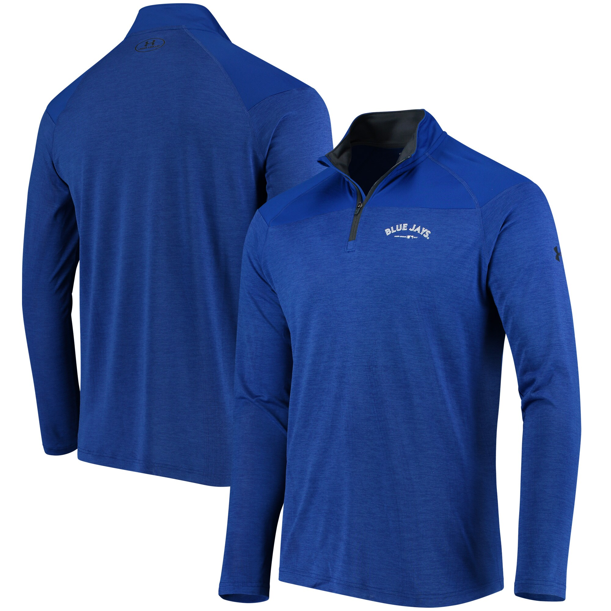 Toronto Blue Jays Under Armour Tech Tonal Twist Quarter-Zip Pullover Jacket - Royal