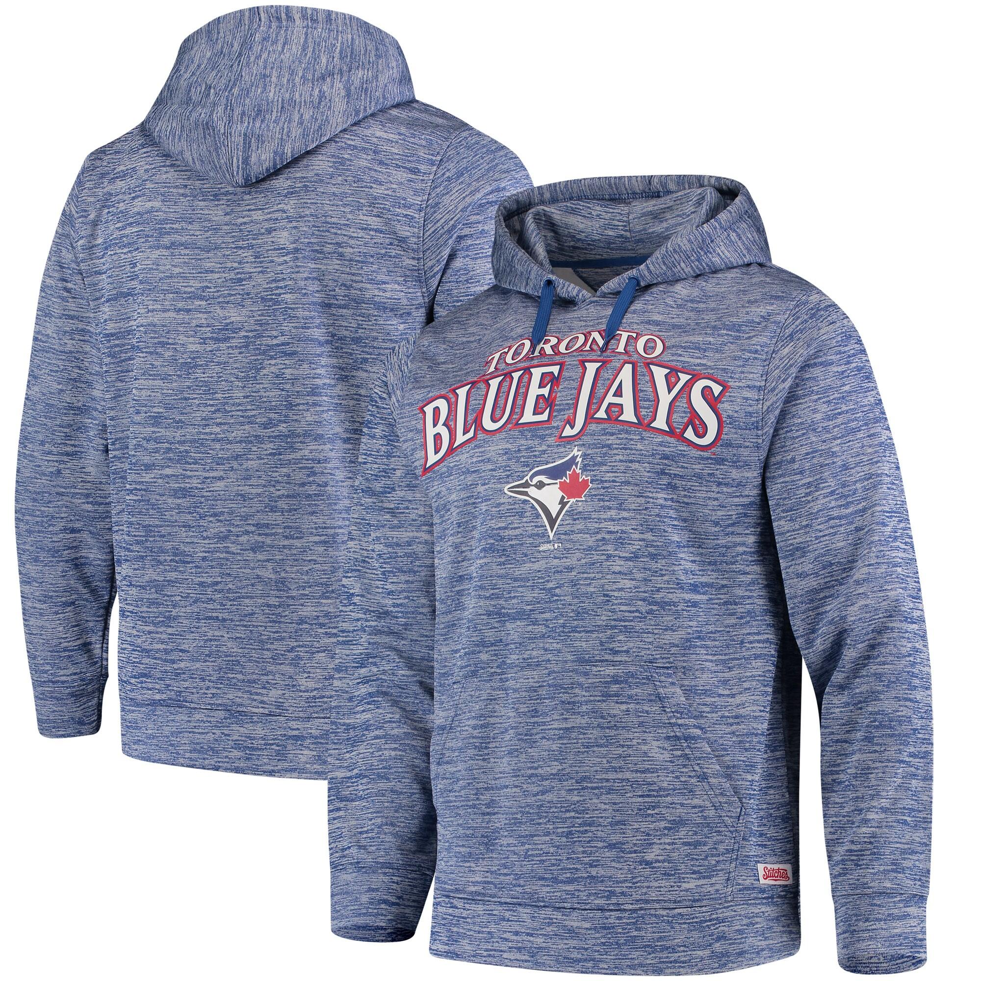 Toronto Blue Jays Stitches Digital Fleece Pullover Hoodie - Heathered Royal