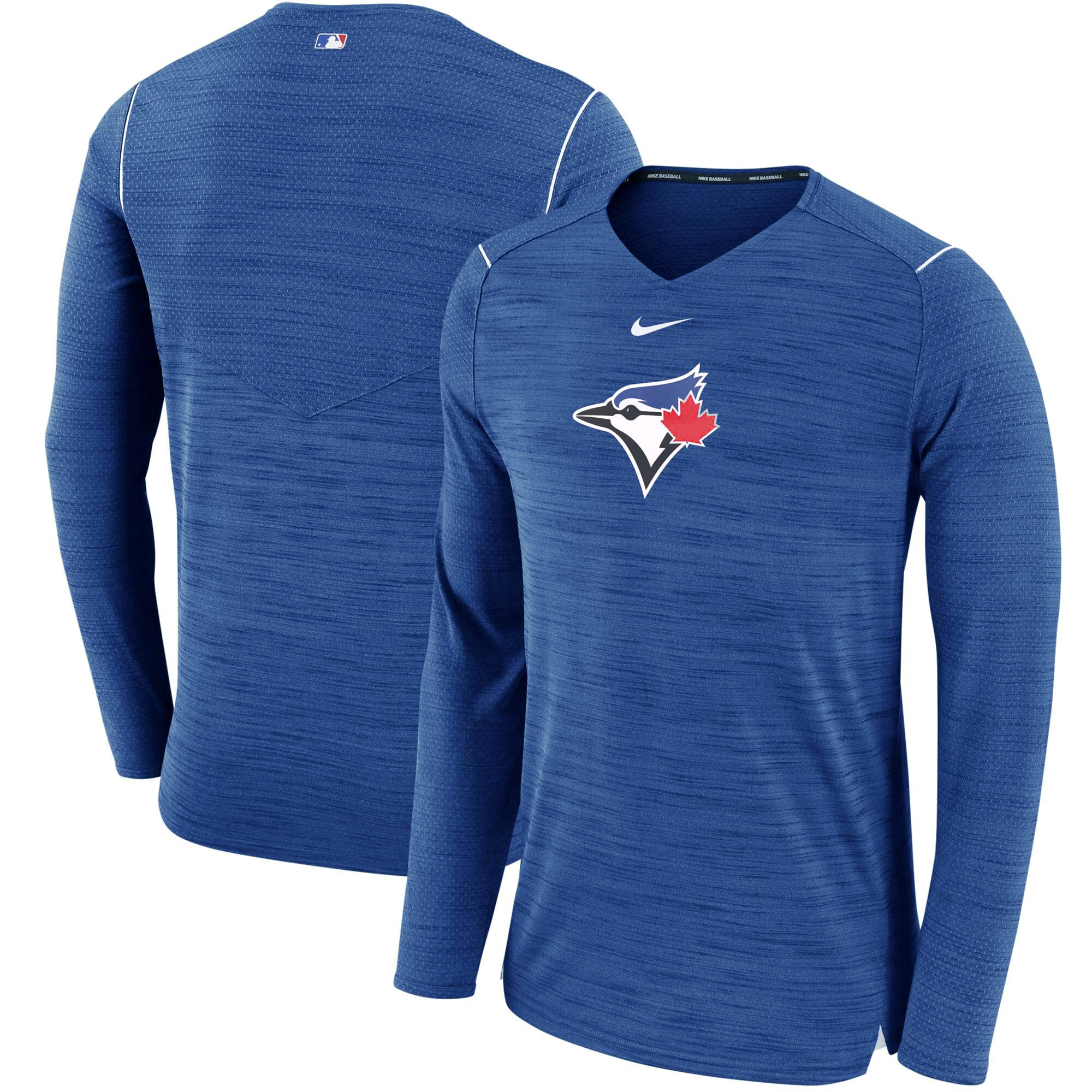 Toronto Blue Jays Nike AC Breathe Long Sleeve Performance T-Shirt - Royal