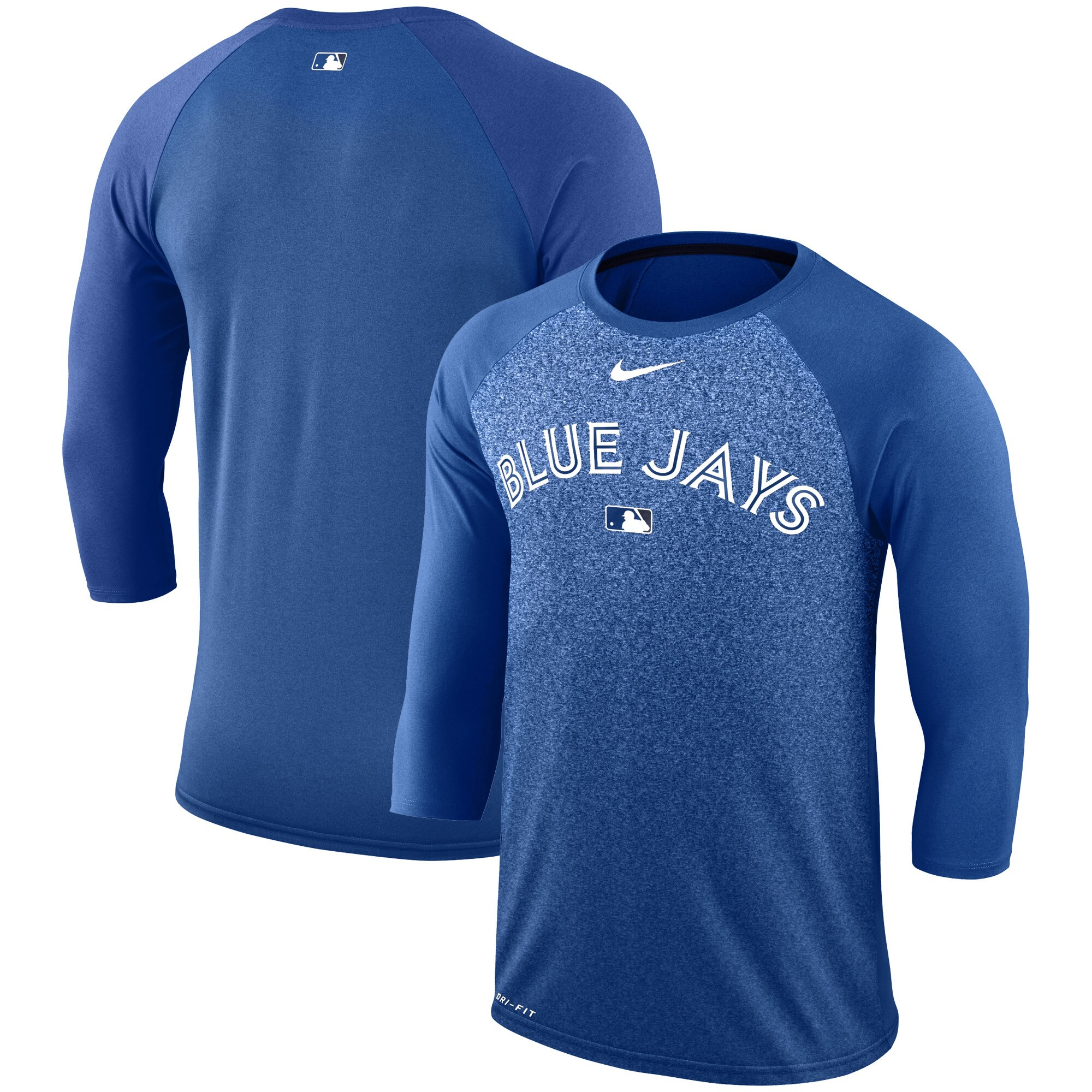 Toronto Blue Jays Nike Authentic Collection Legend 3/4-Sleeve Raglan Performance T-Shirt - Royal