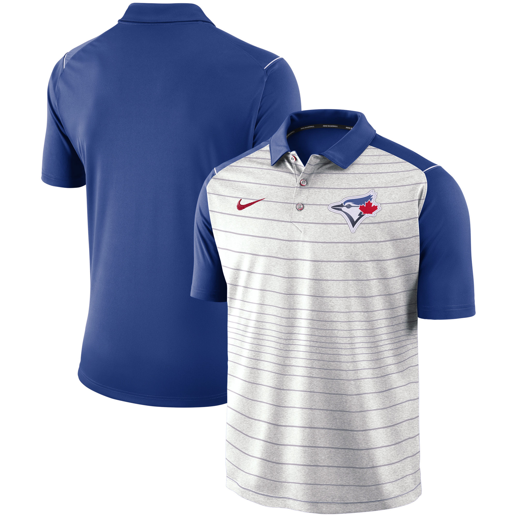 Toronto Blue Jays Nike Stripe Polo - Gray