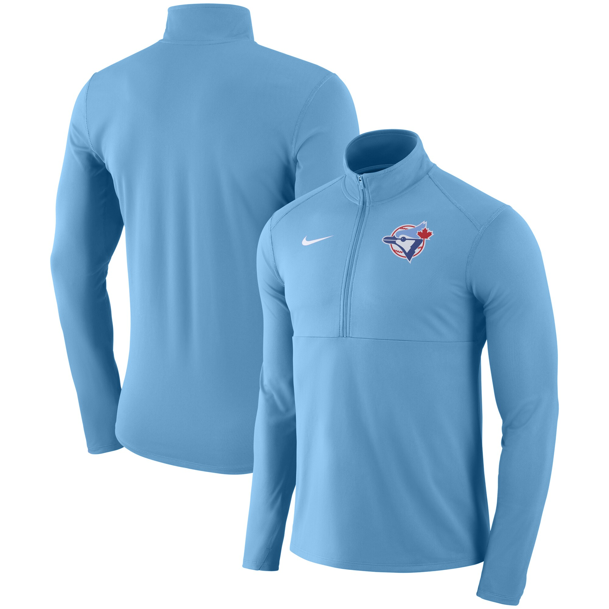 Toronto Blue Jays Nike Dry Element Half-Zip Performance Pullover - Light Blue