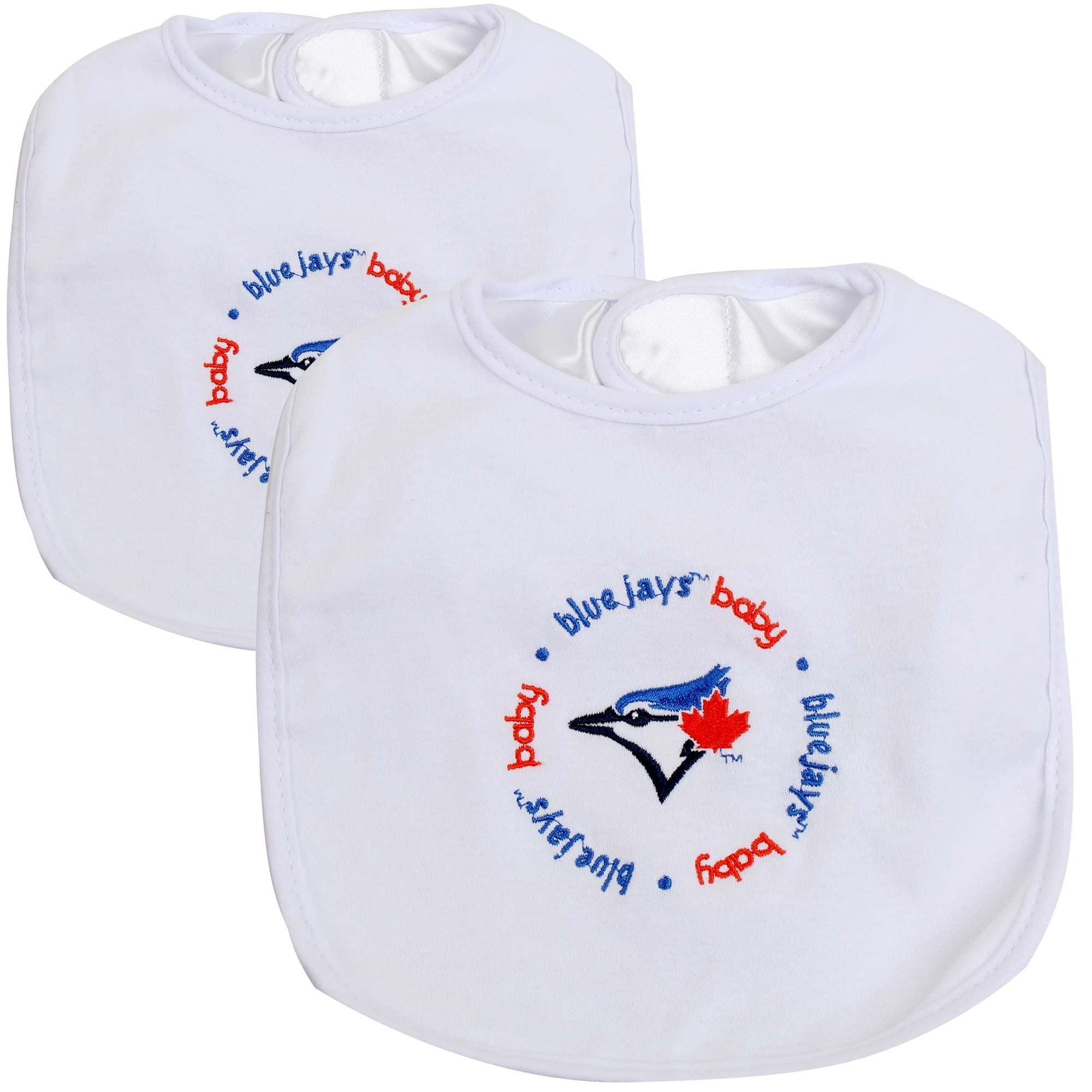 Toronto Blue Jays 2-Pack Baby Bibs - White