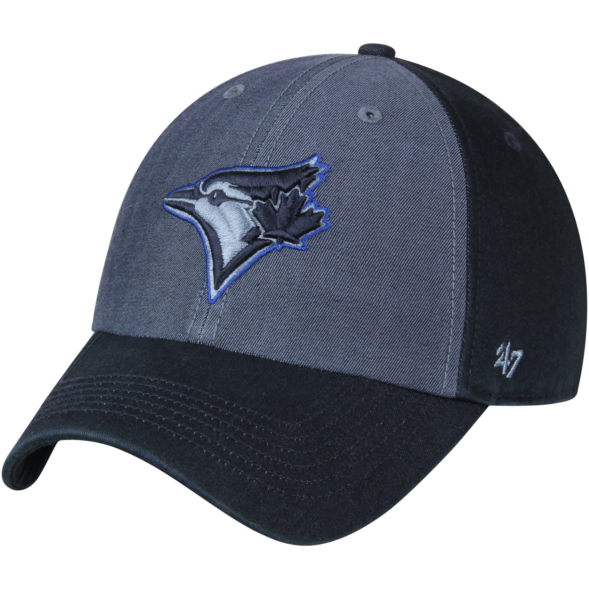 Toronto Blue Jays '47 Encoder Franchise Fitted Hat - Heathered Blue/Navy