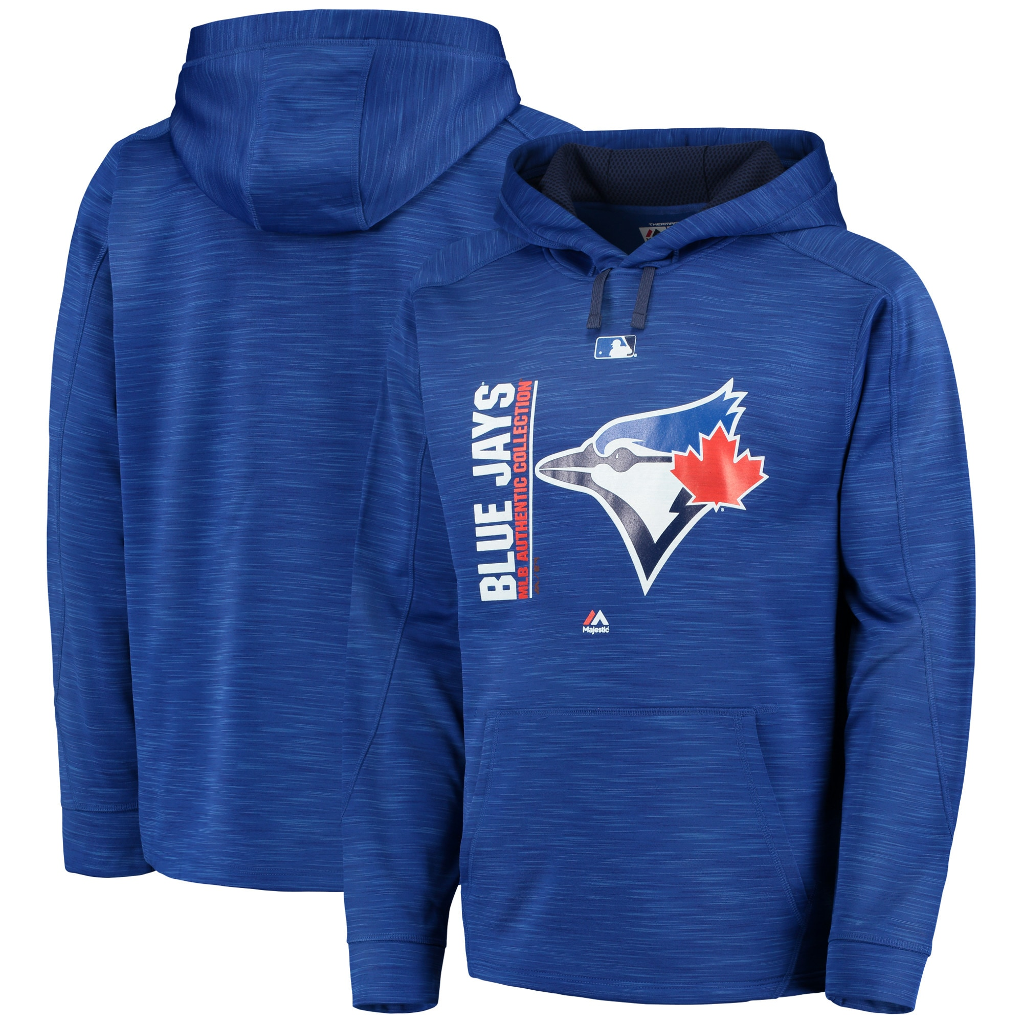 Toronto Blue Jays Majestic Authentic Collection Team Icon Streak Fleece Pullover Hoodie - Royal