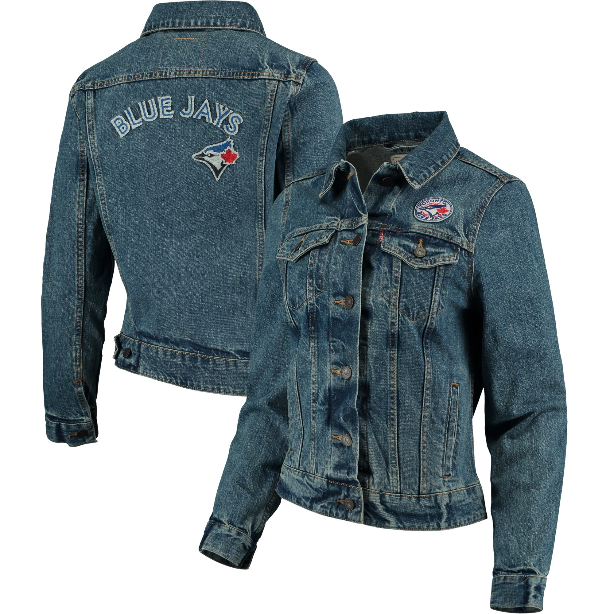 Toronto Blue Jays Levi's Women's Trucker Jacket - Denim