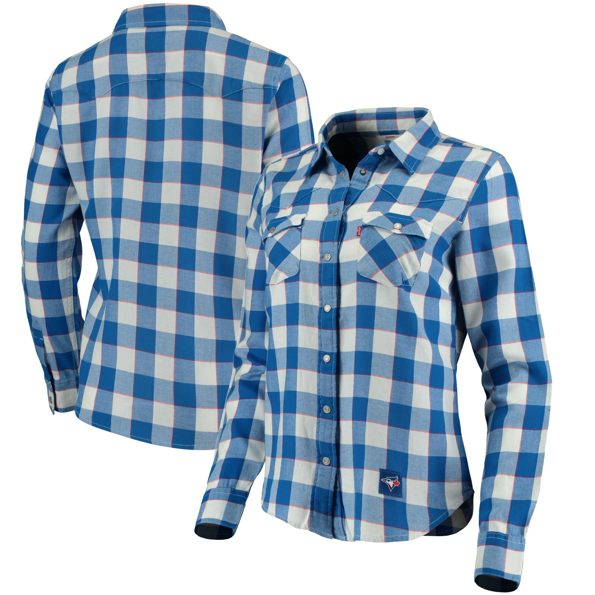 Toronto Blue Jays Levi's Women's Western Full-Snap Shirt - Royal