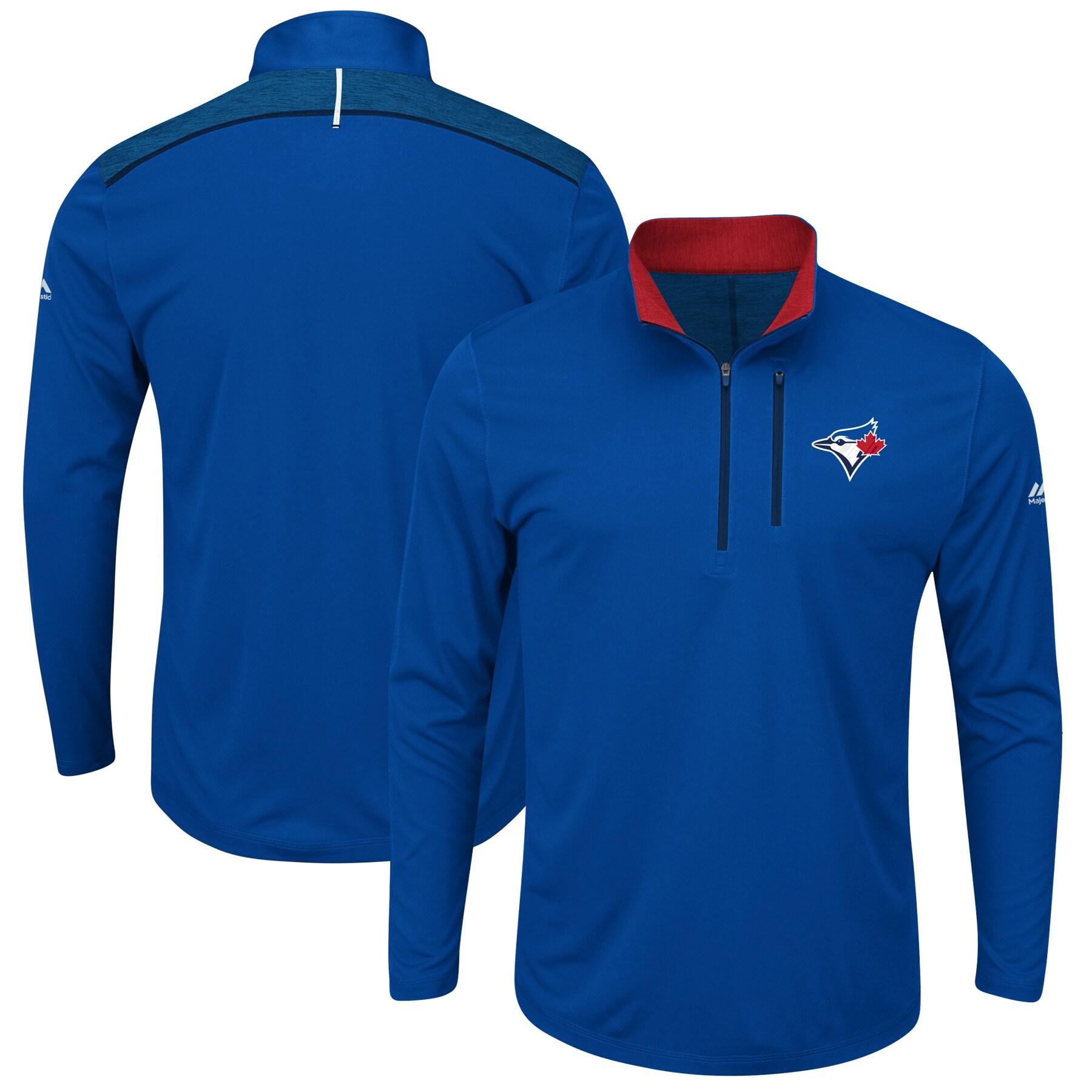Toronto Blue Jays Majestic Big & Tall 643 Half-Zip Pullover Jacket - Royal