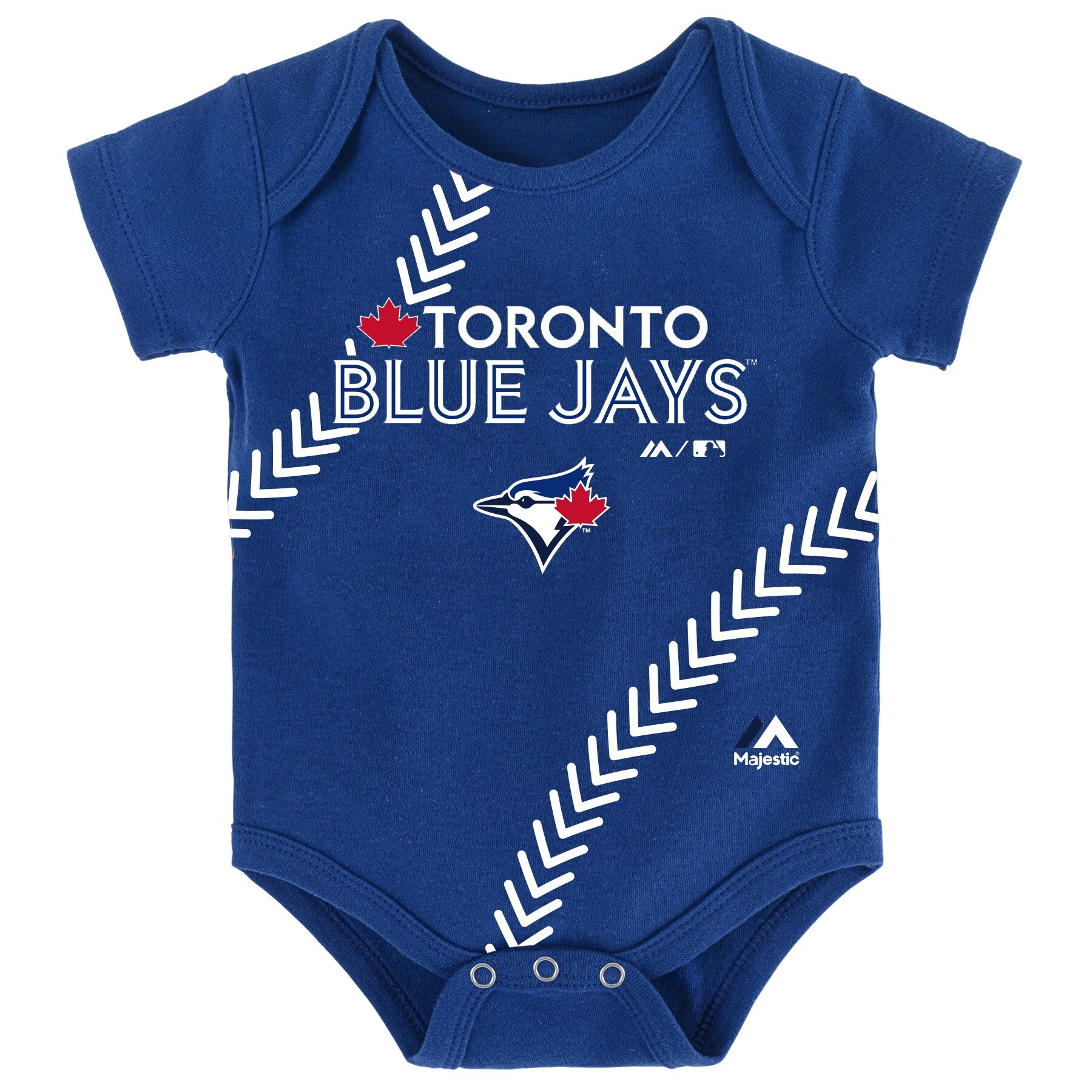 Toronto Blue Jays Majestic Newborn & Infant Fan-Atic Baseball Bodysuit - Royal