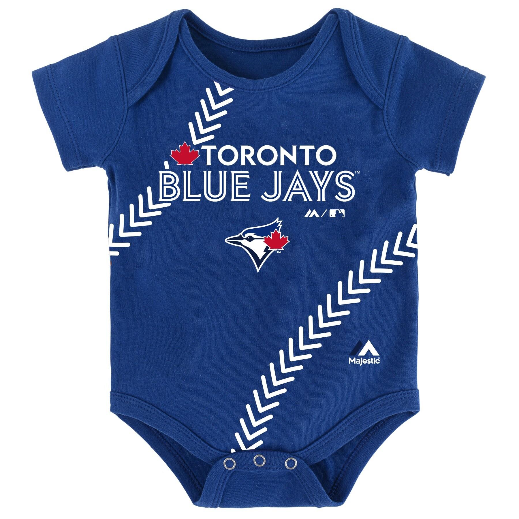 Toronto Blue Jays Majestic Newborn & Infant Fan-Atic Baseball Bodysuit - Royal