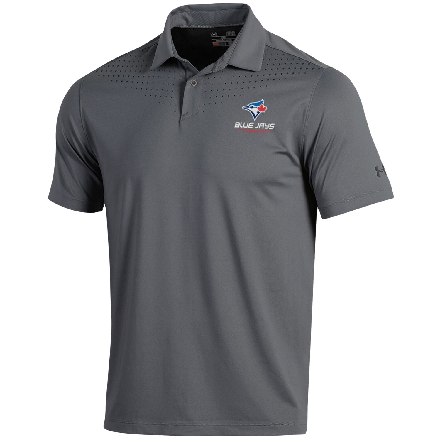 Toronto Blue Jays Under Armour Coolswitch Ice Pick Performance Polo - Gray
