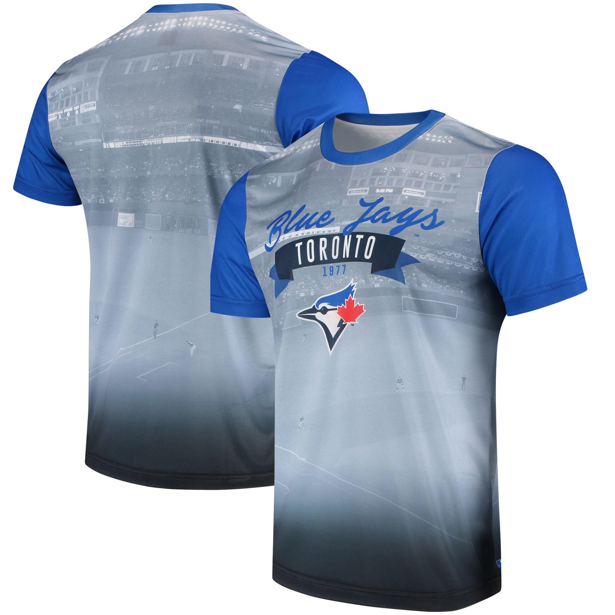 Toronto Blue Jays Outfield Photo T-Shirt - White/Royal