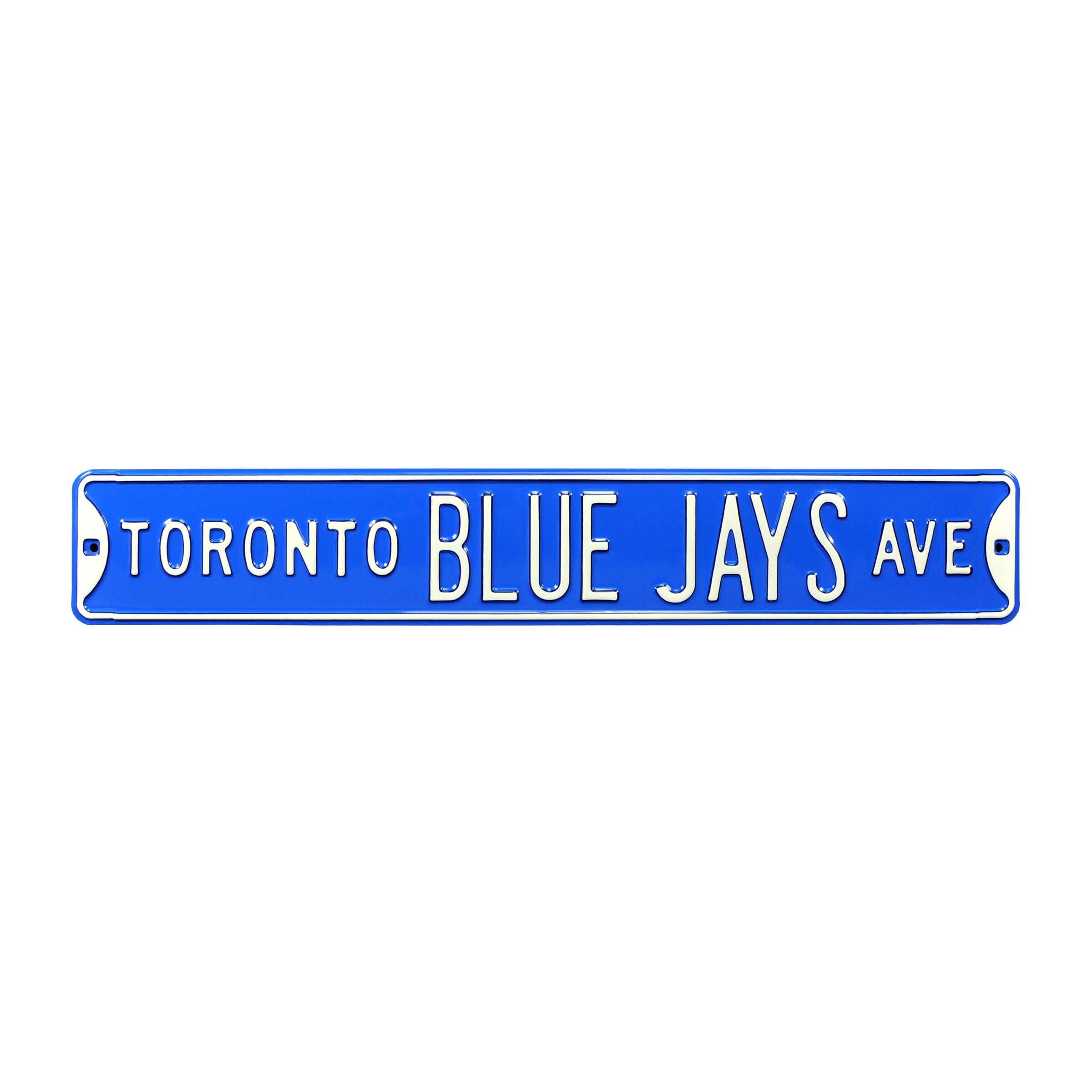 "Toronto Blue Jays 6"" x 36"" Steel Ave Sign Wall Art - Blue"