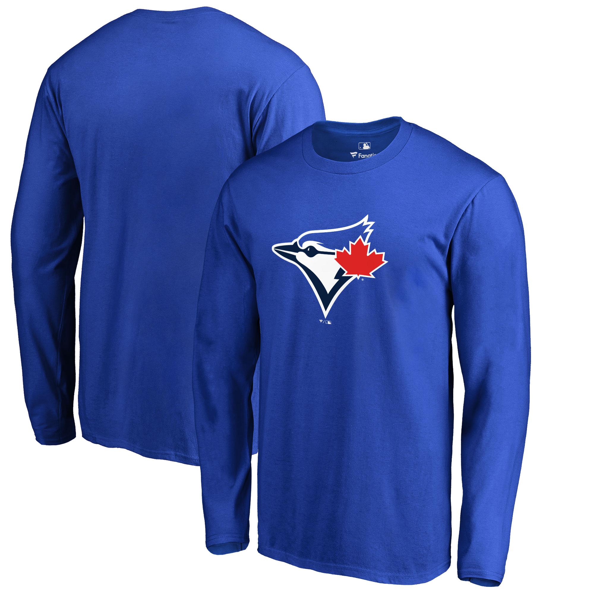 Toronto Blue Jays Big & Tall Primary Team Logo Long Sleeve T-Shirt - Royal
