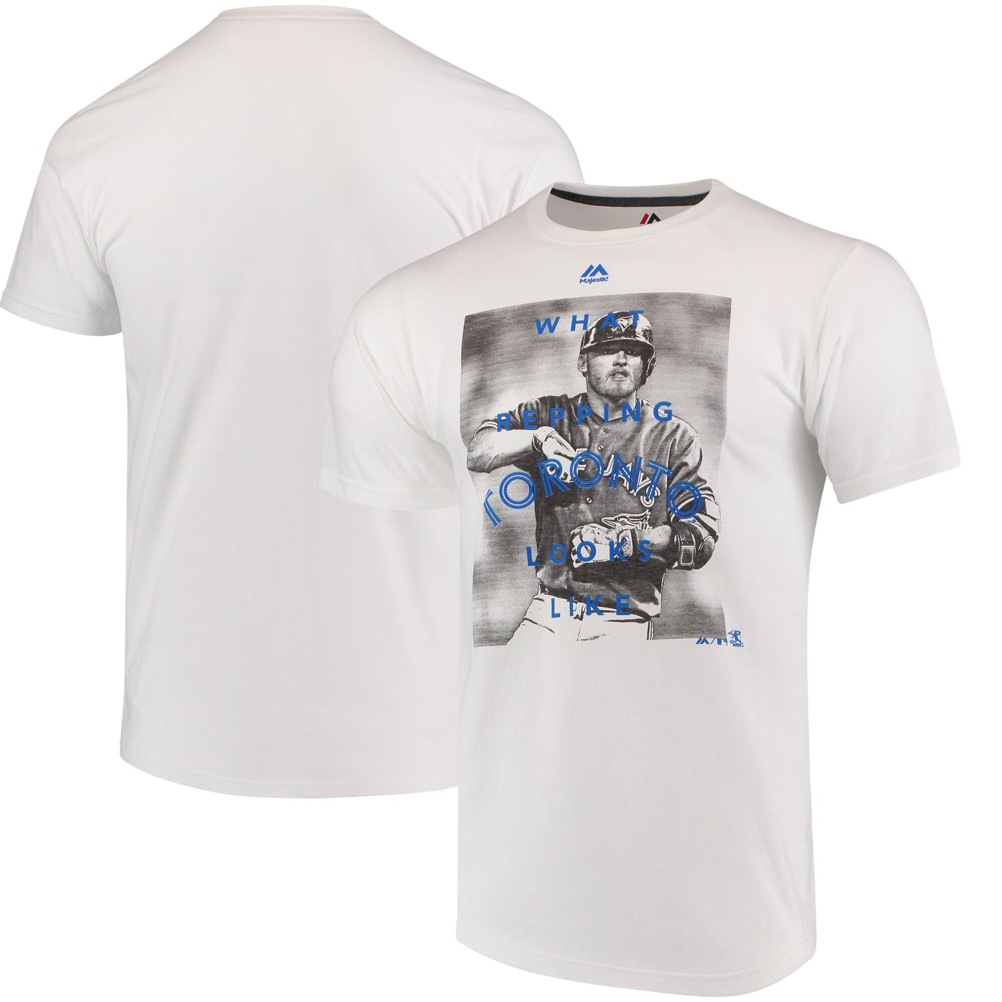 Josh Donaldson Toronto Blue Jays Majestic Walk Off Player T-Shirt - White