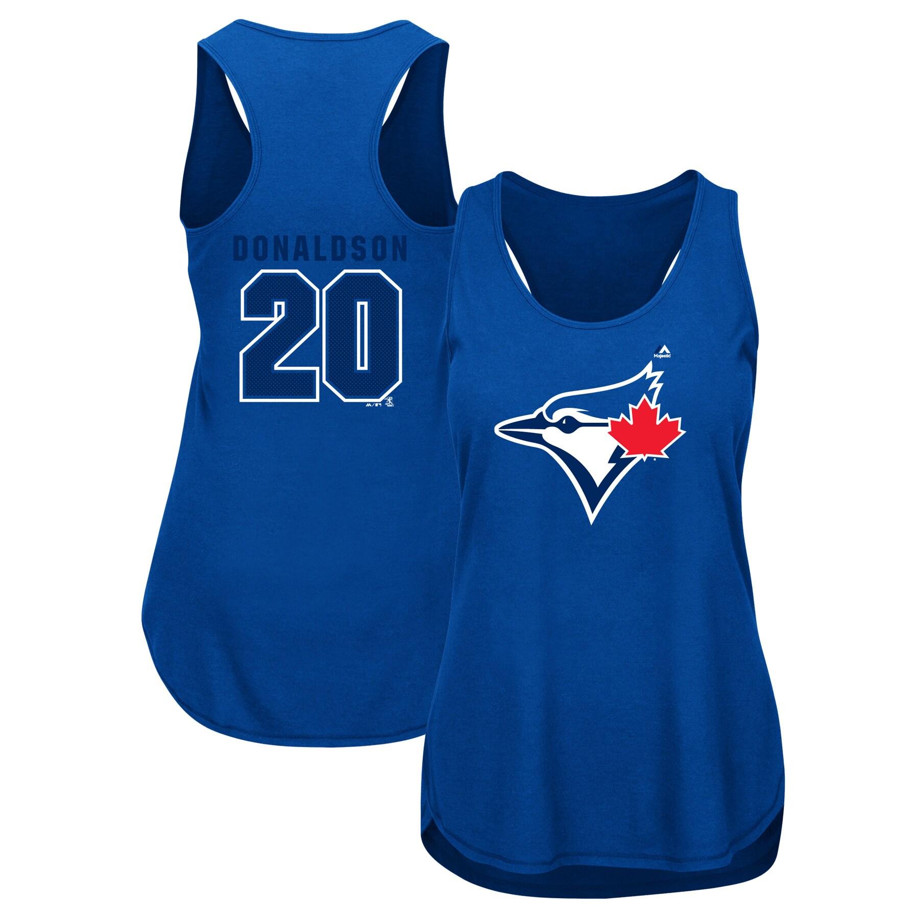 Josh Donaldson Toronto Blue Jays Majestic Women's Men of October Player Tank Top - Royal