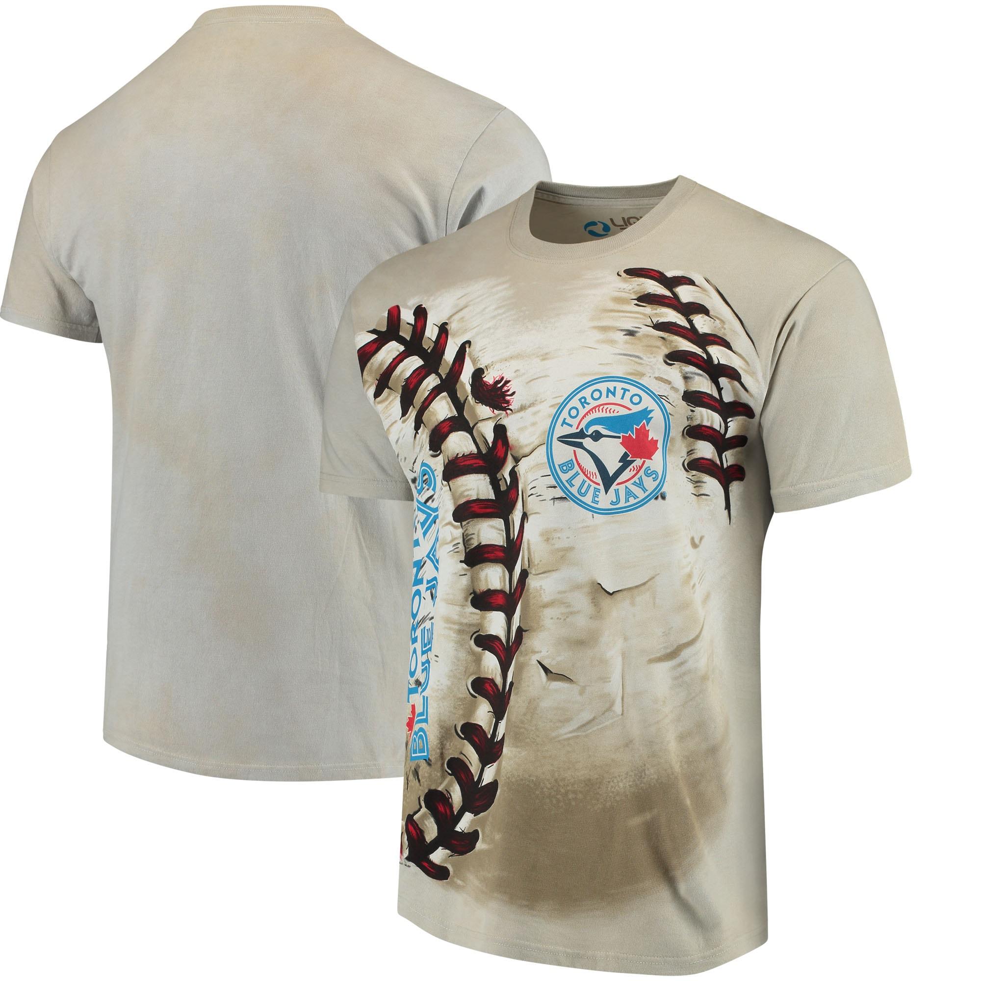 Toronto Blue Jays Hardball Tie-Dye T- Shirt - Cream