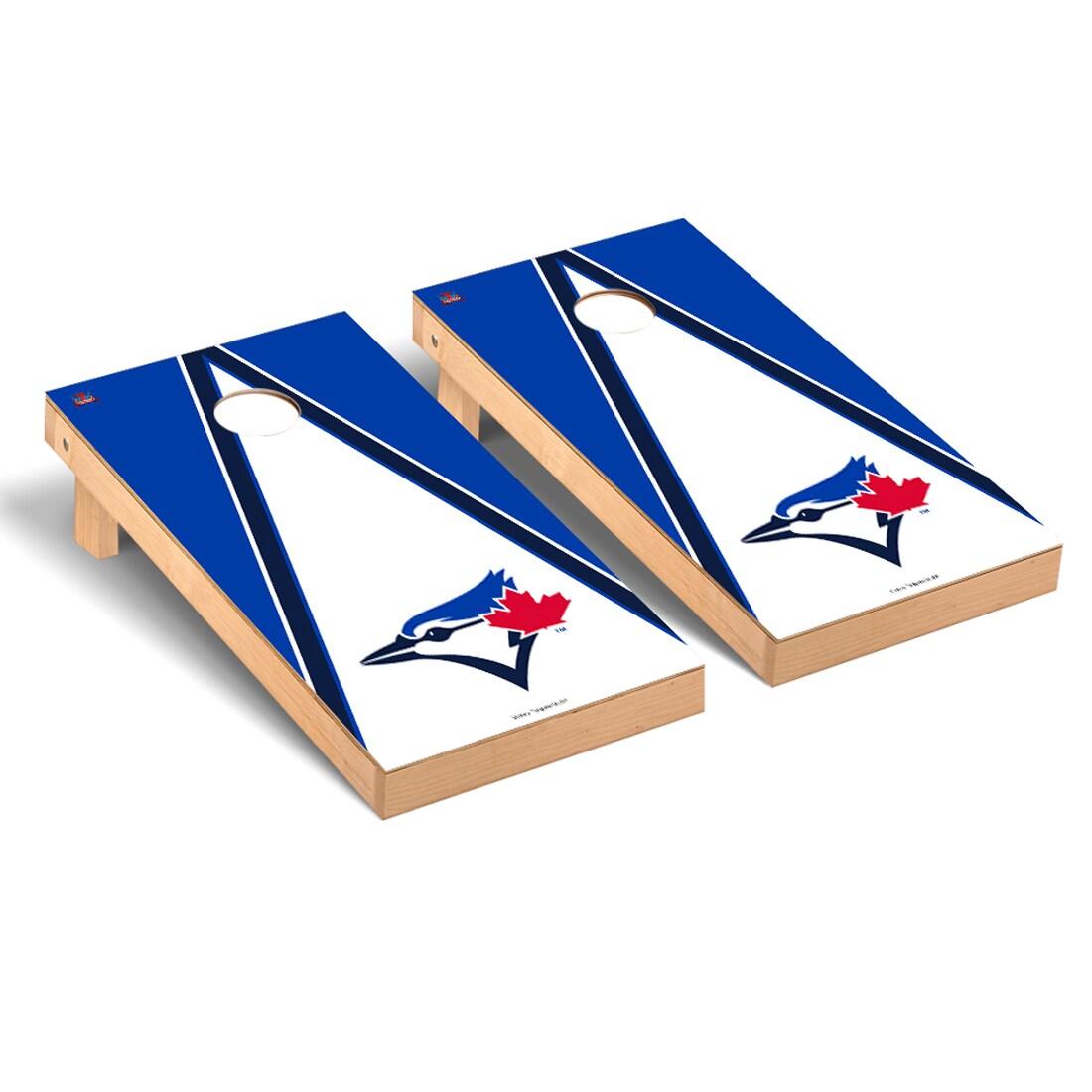 Toronto Blue Jays 2' x 4' Triangle Cornhole Board Tailgate Toss Set