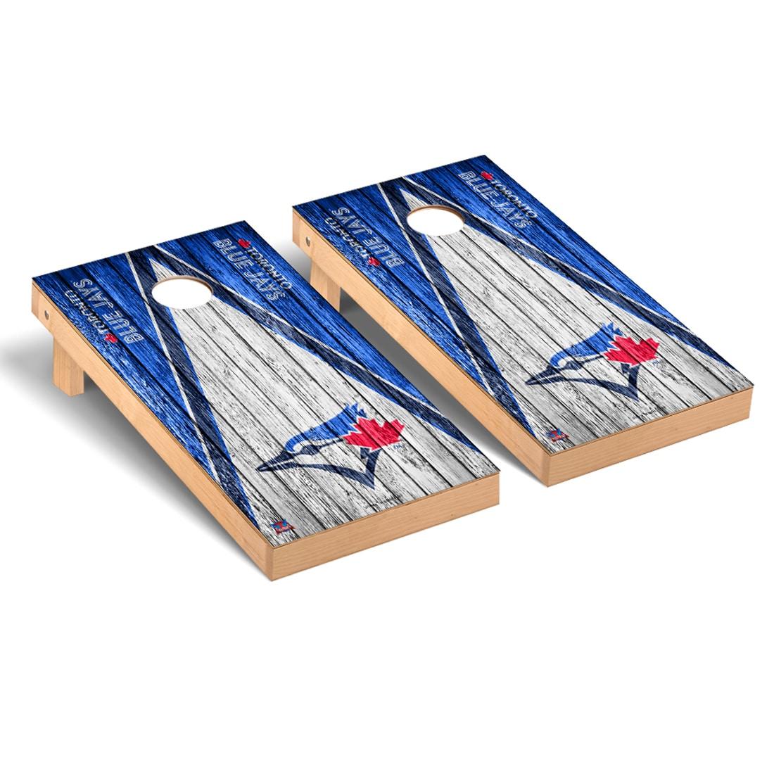 Toronto Blue Jays 2' x 4' Weathered Cornhole Board Tailgate Toss Set