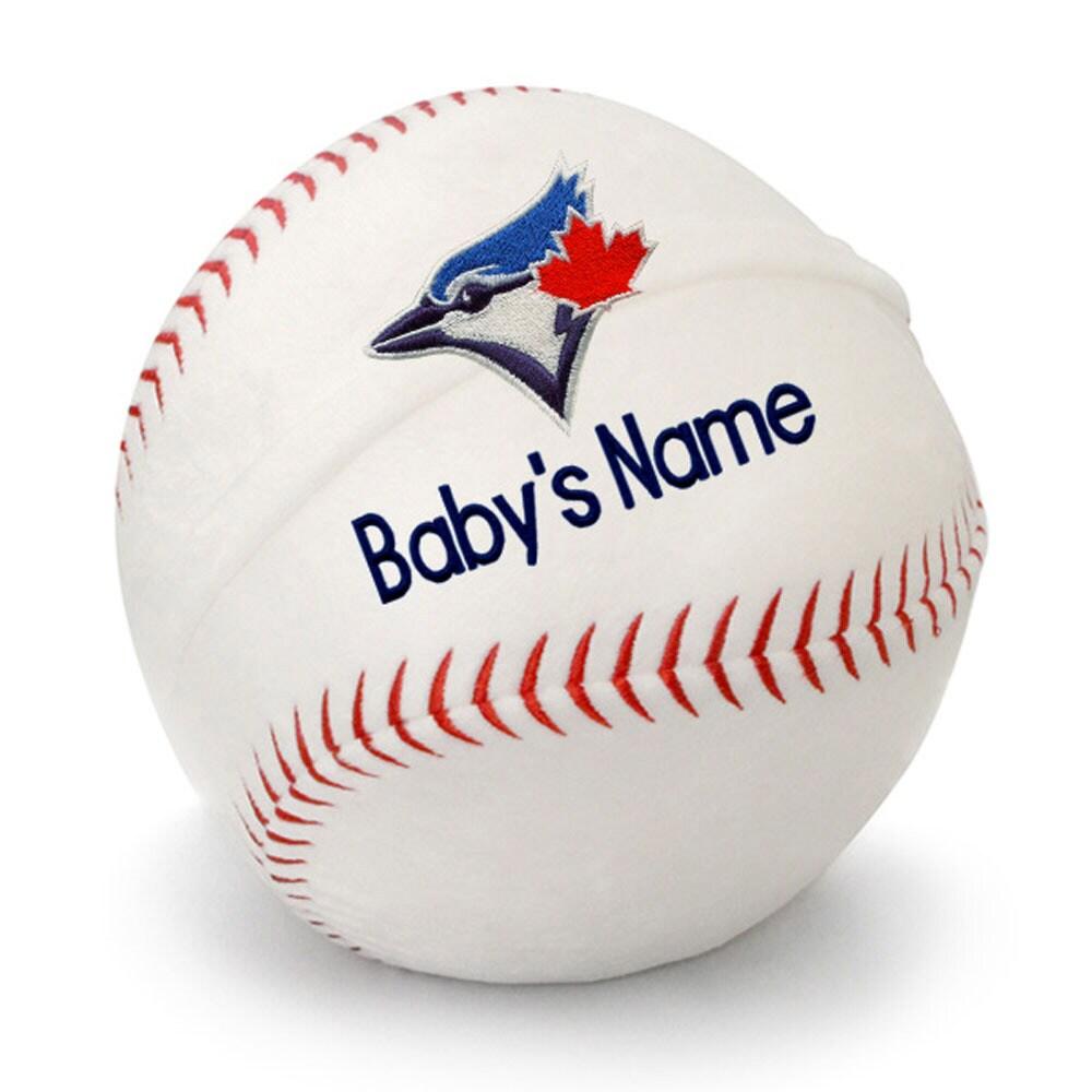 Toronto Blue Jays Personalized Plush Baby Baseball - White