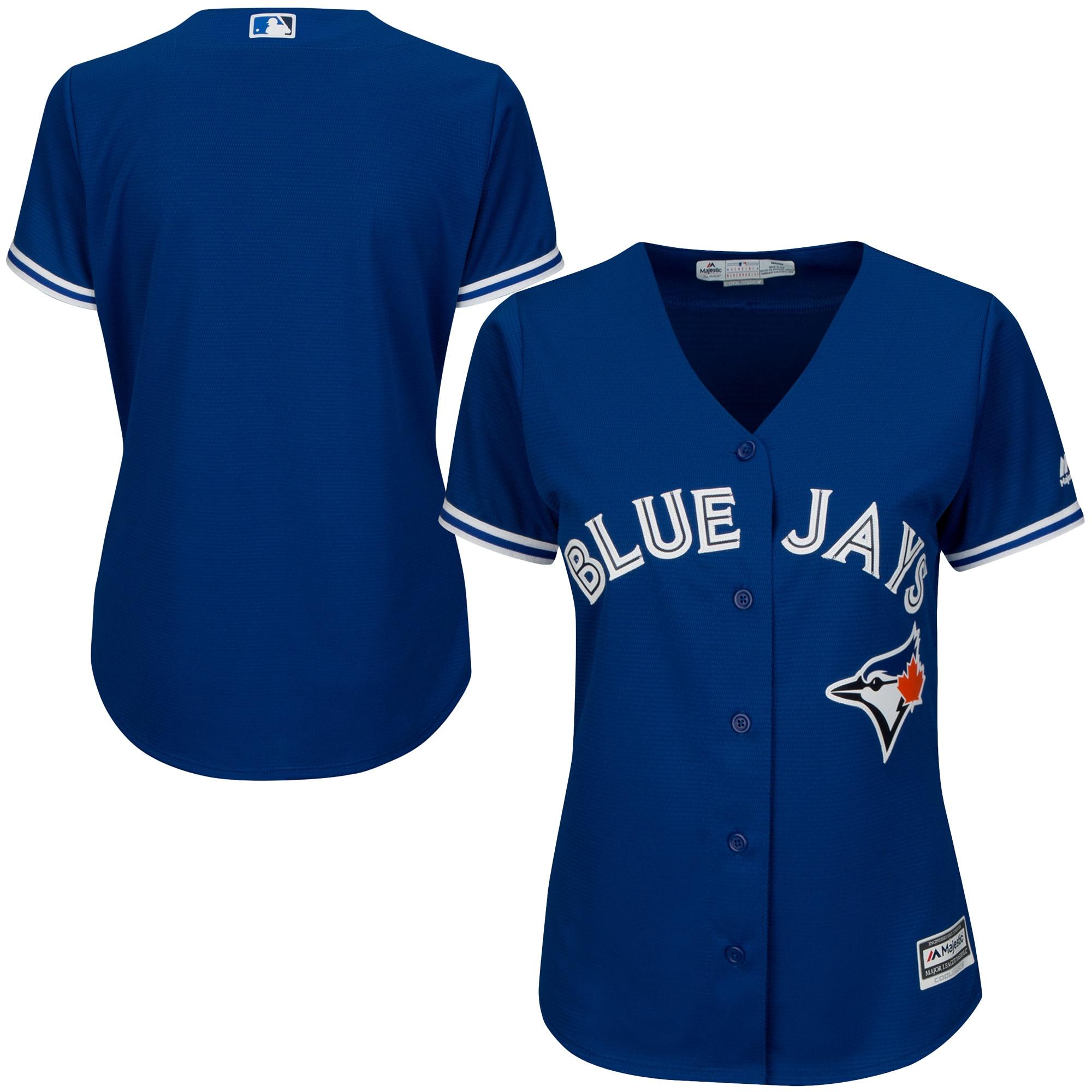Toronto Blue Jays Majestic Women's Alternate Plus Size Replica Cool Base Team Jersey - Royal