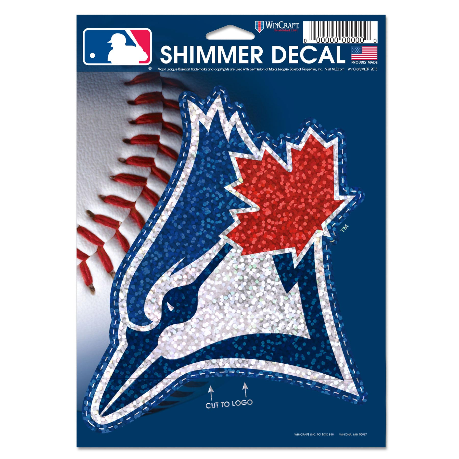 "Toronto Blue Jays WinCraft 5"" x 7"" Shimmer Decal"