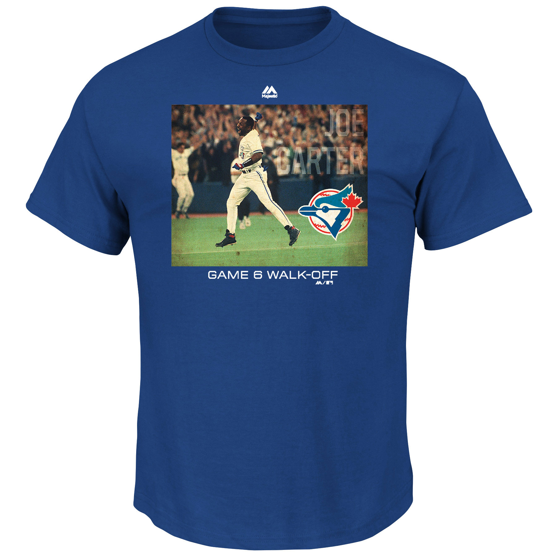 Joe Carter Toronto Blue Jays Majestic Cooperstown Genuine Player T-Shirt - Light Blue