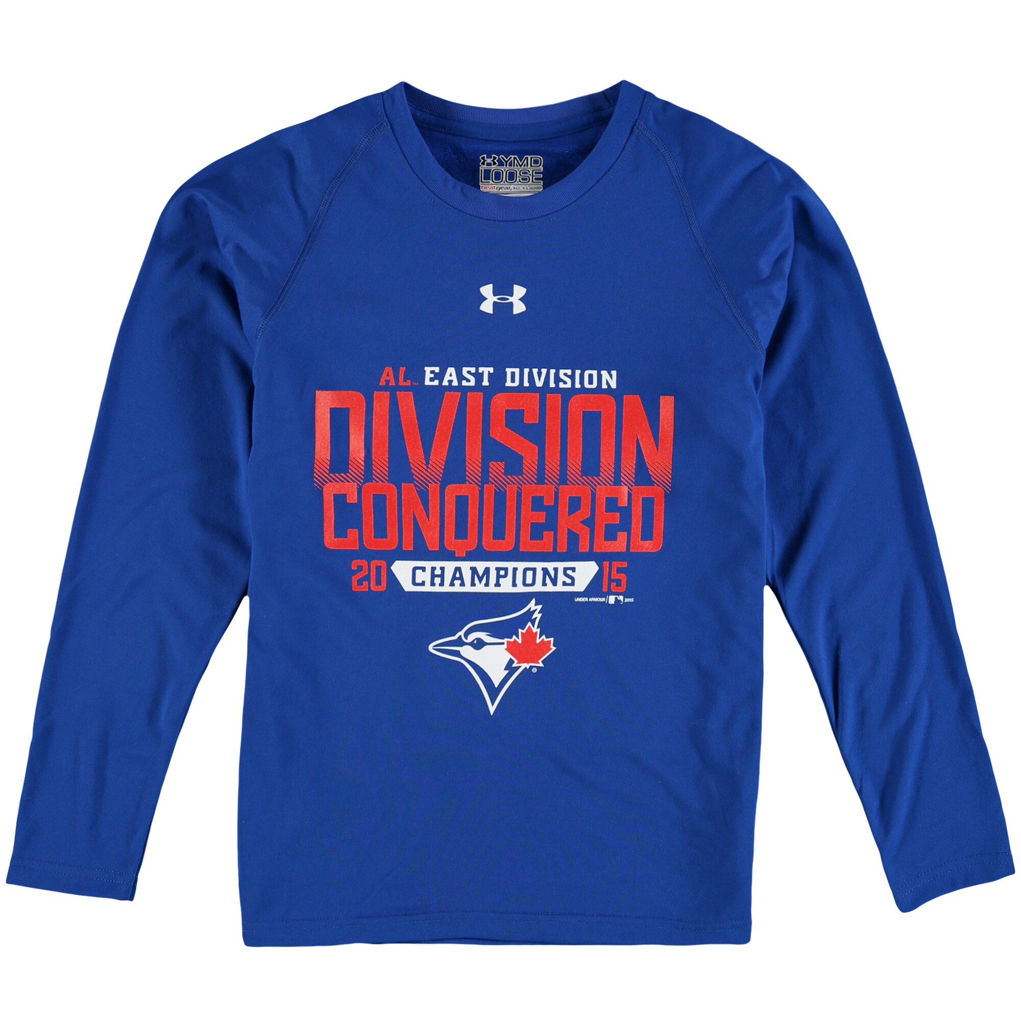 Toronto Blue Jays Under Armour Youth 2015 AL East Division Conquered Tech Long Sleeve T-Shirt - Royal