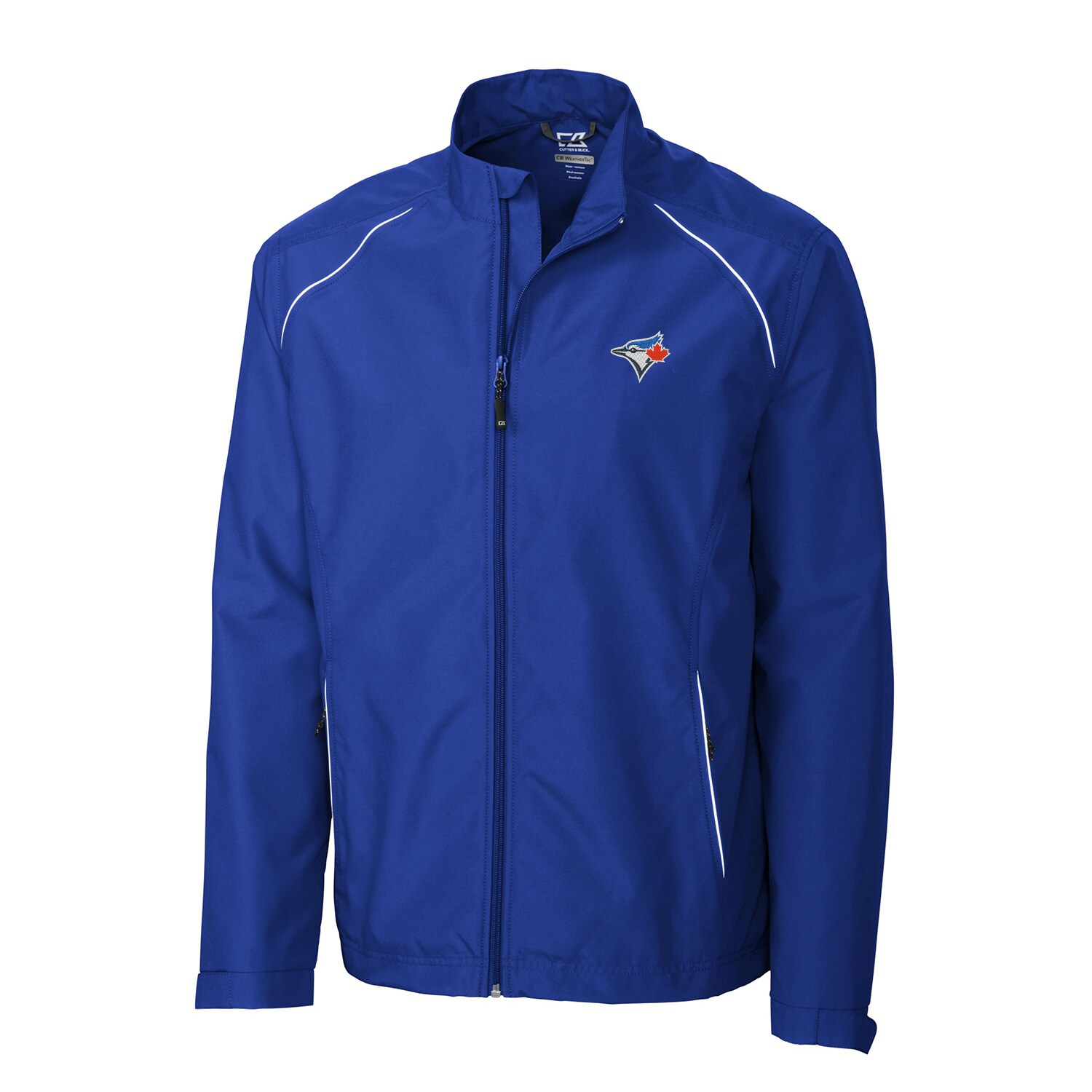Toronto Blue Jays Cutter & Buck Beacon WeatherTec Full-Zip Jacket - Royal