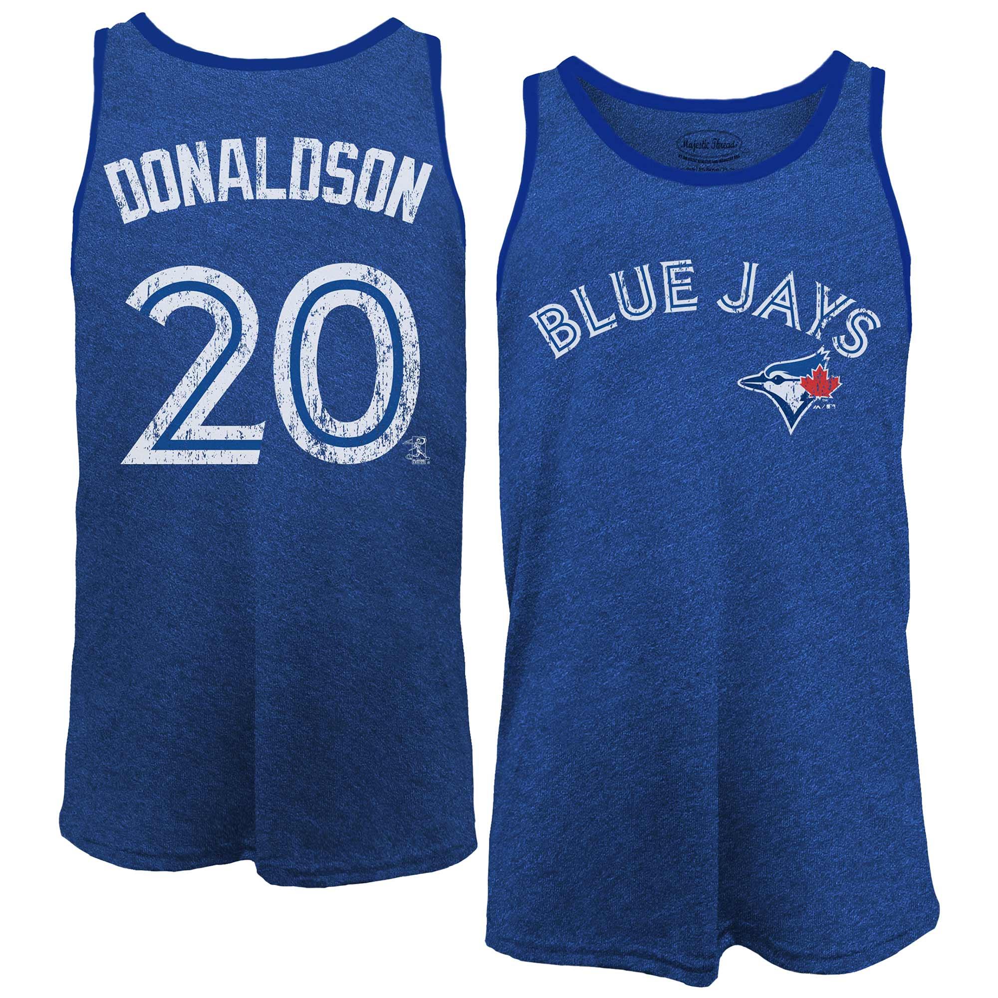 Josh Donaldson Toronto Blue Jays Majestic Threads Name & Number Tri-Blend Tank Top - Royal