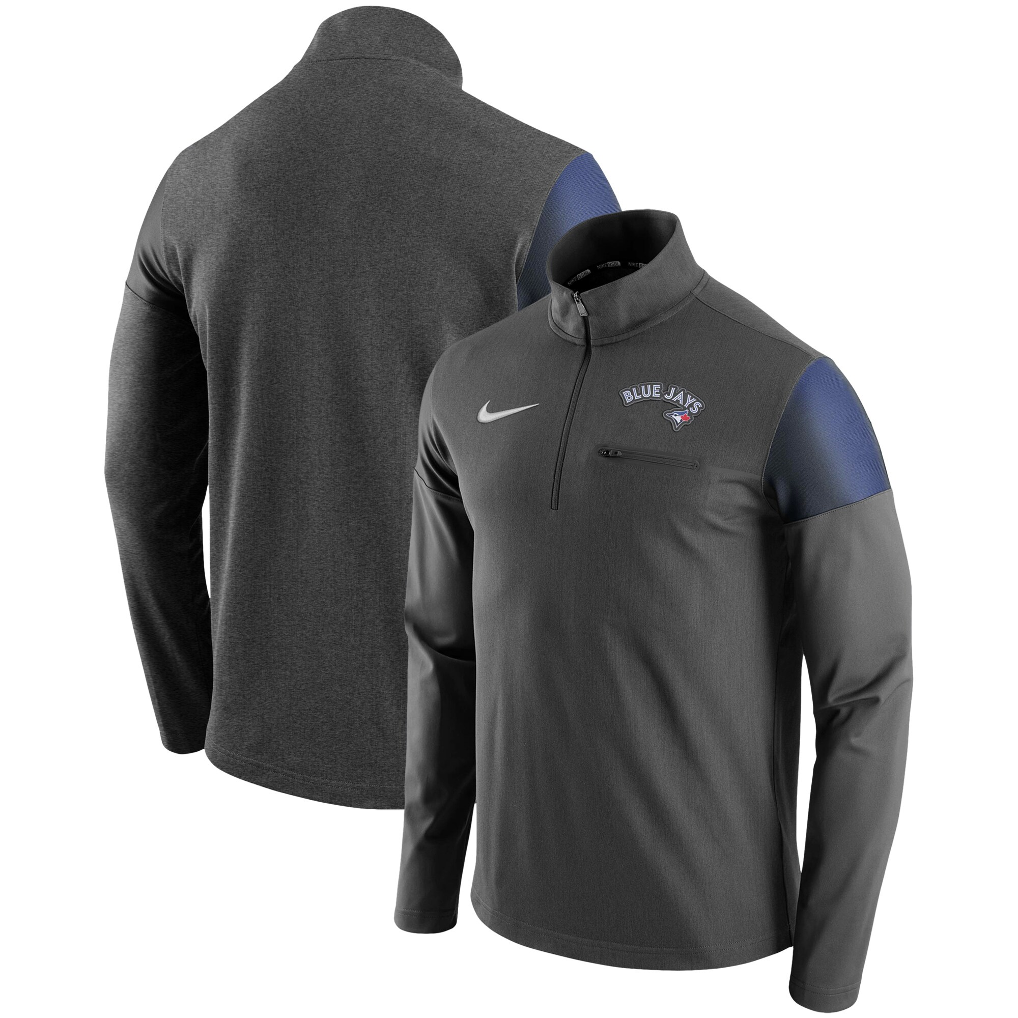 Toronto Blue Jays Nike Elite Half-Zip Pullover Jacket - Gray
