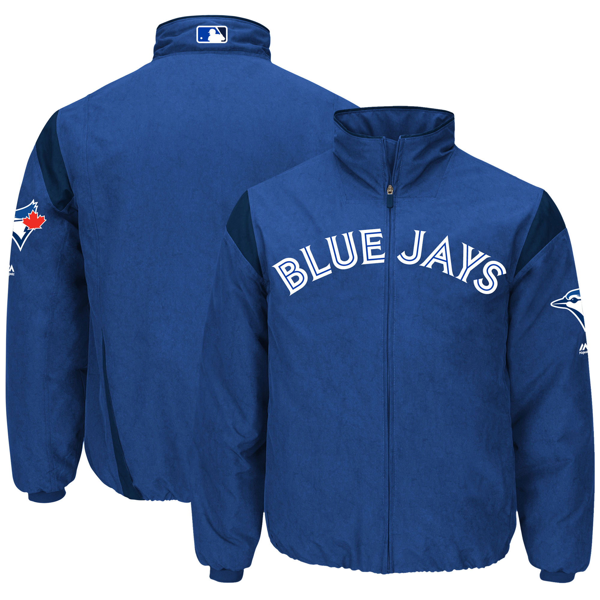 Toronto Blue Jays Majestic On-Field Therma Base Thermal Full-Zip Jacket - Royal