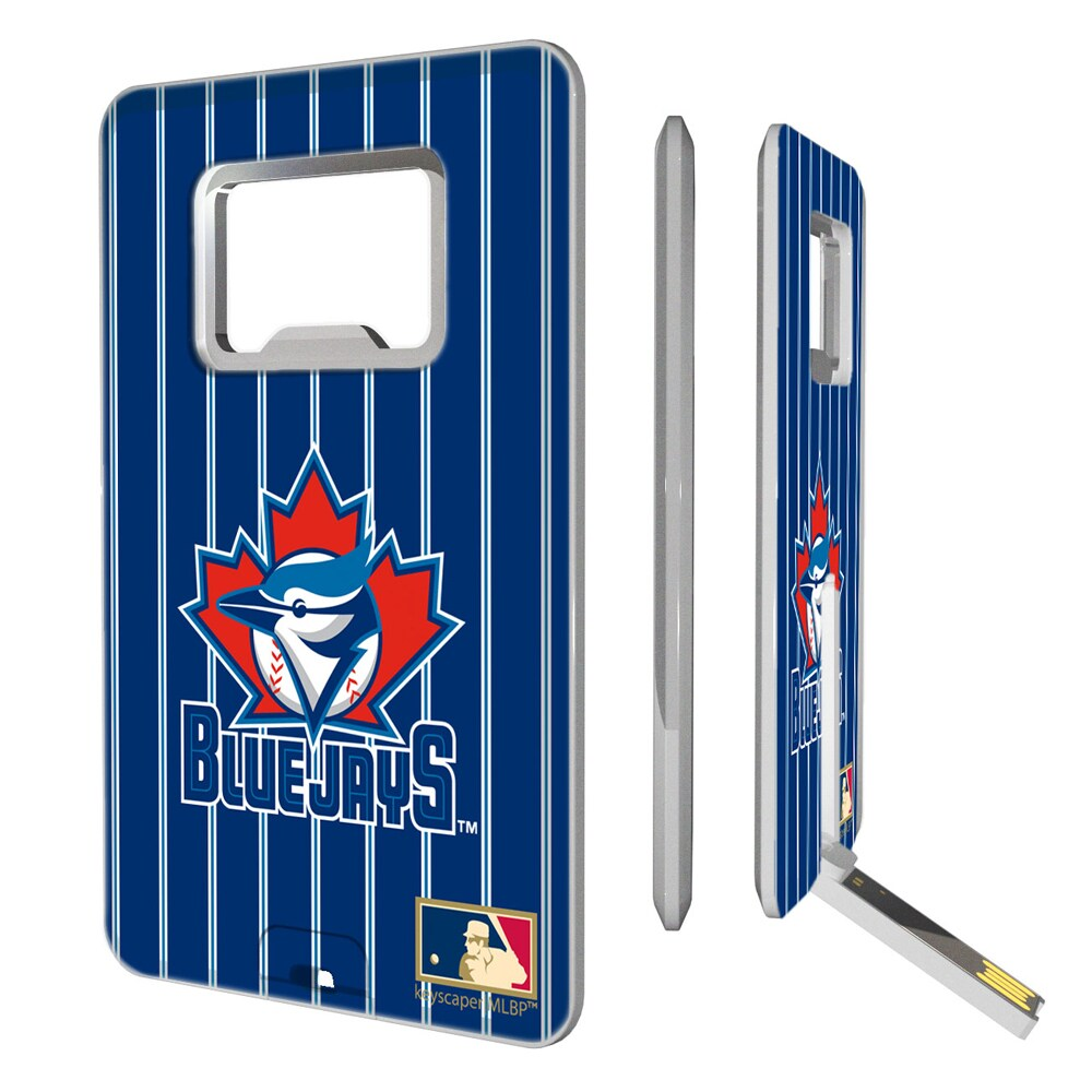 Toronto Blue Jays 1997-2002 Cooperstown Pinstripe Credit Card USB Drive & Bottle Opener