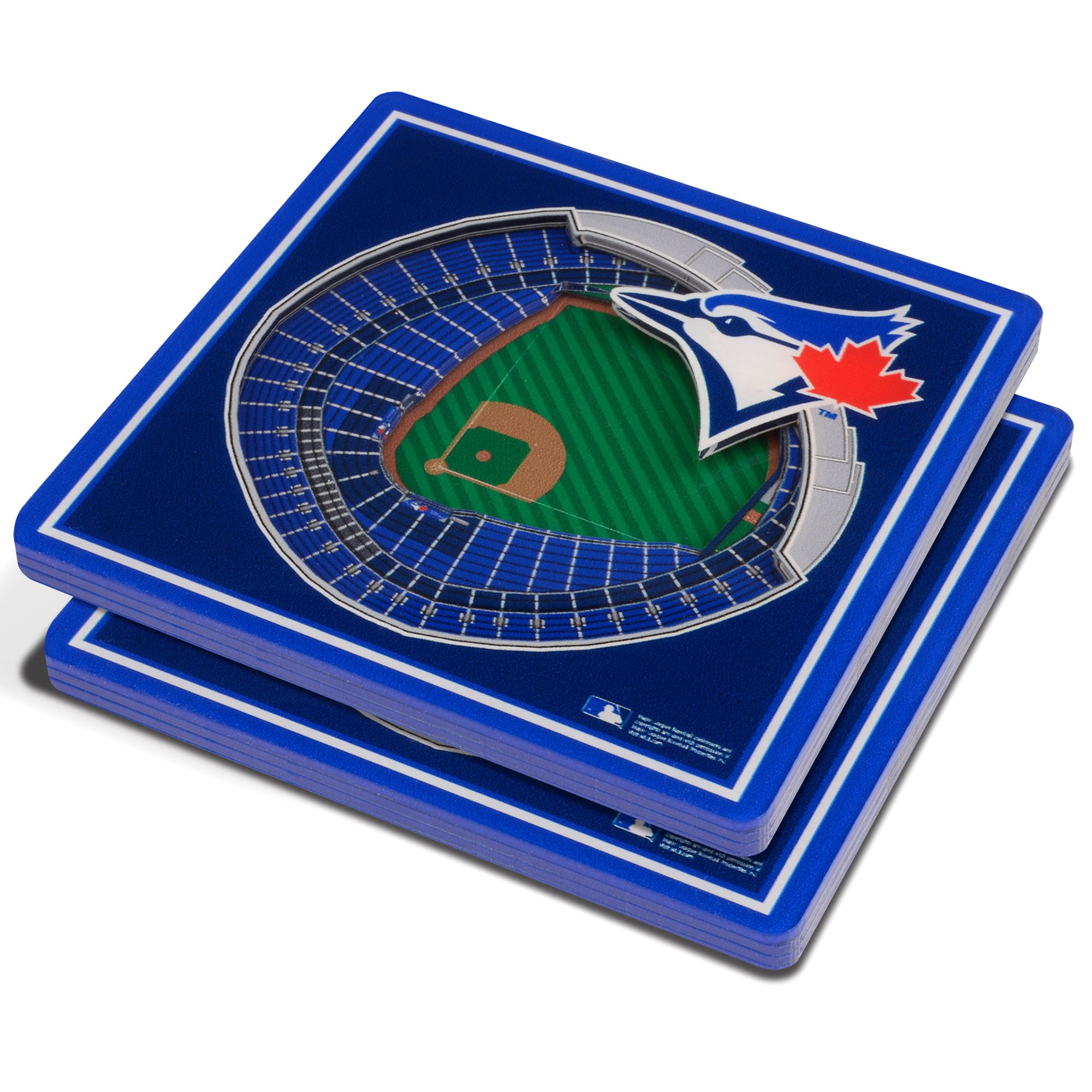 Toronto Blue Jays 3D StadiumViews Coasters - Blue
