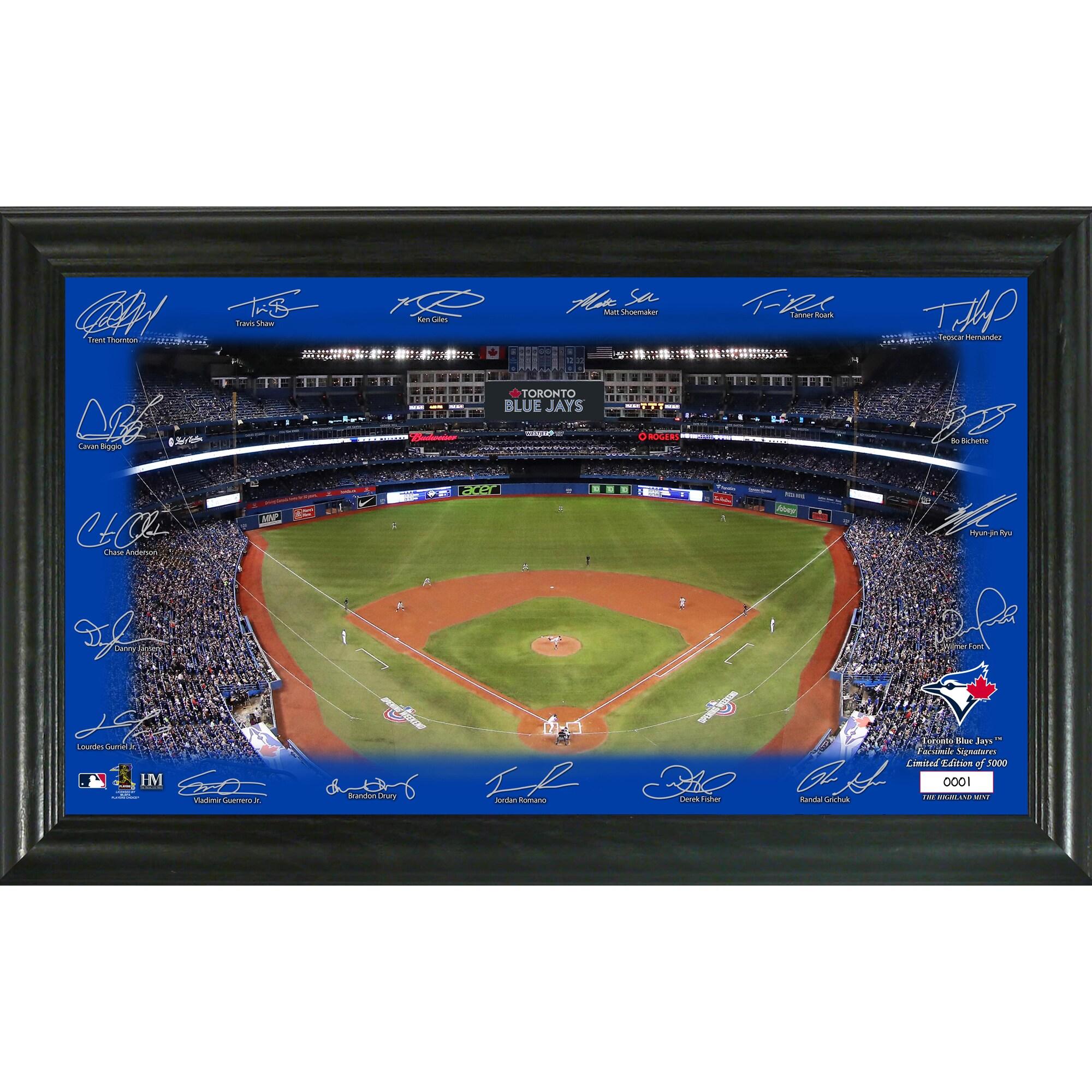 Toronto Blue Jays Highland Mint 12'' x 20'' Signature Field Limited Editon Framed Photo Mint