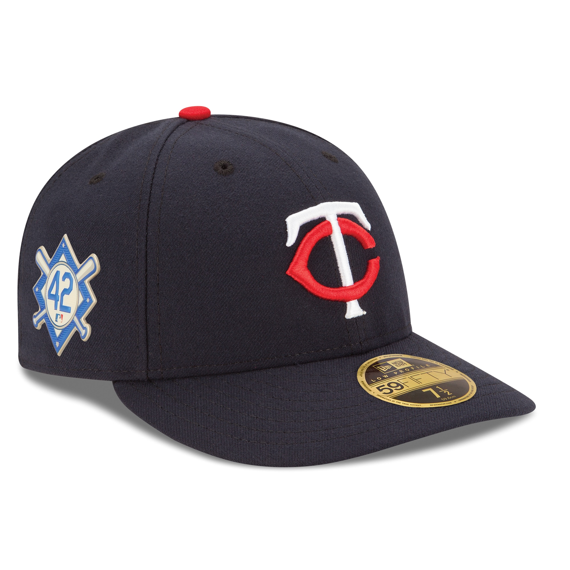 Minnesota Twins New Era Jackie Robinson Day Low Profile 59FIFTY Fitted Hat - Navy