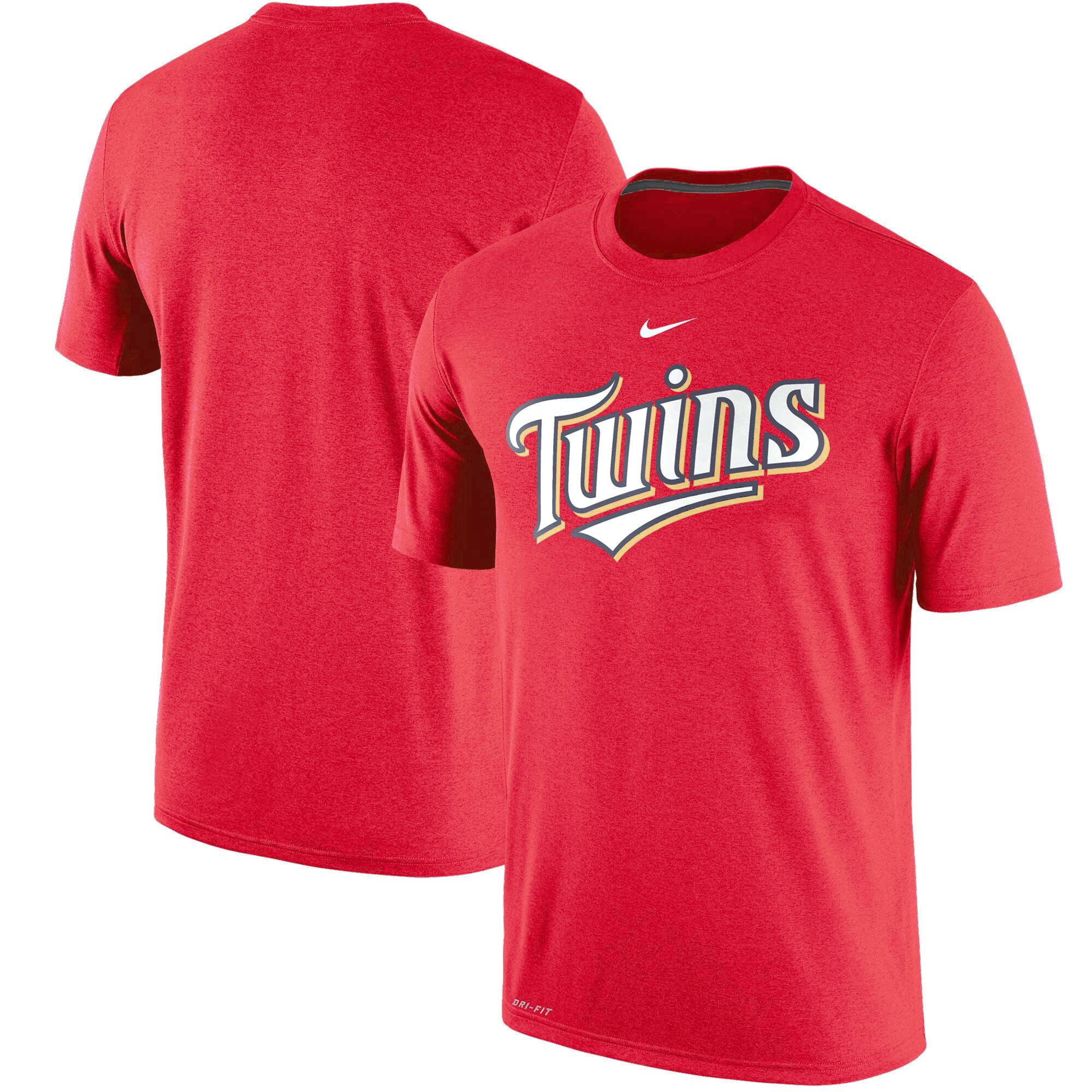 Minnesota Twins Nike Legend Primary Logo Performance T-Shirt - Red
