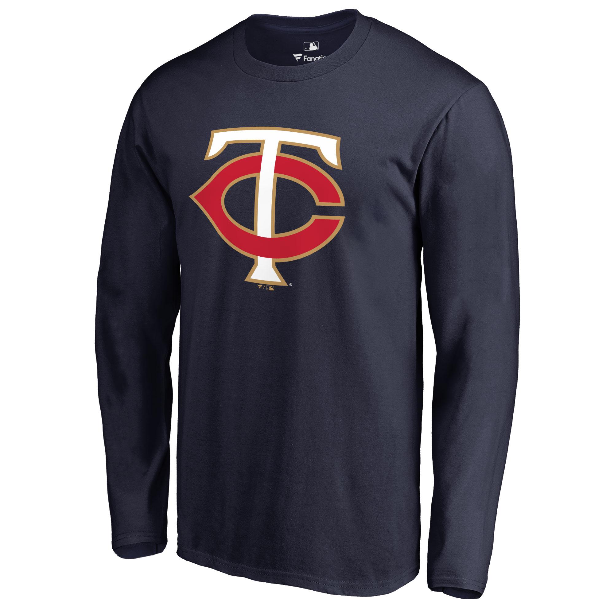 Minnesota Twins Team Color Primary Logo Long Sleeve T-Shirt - Navy