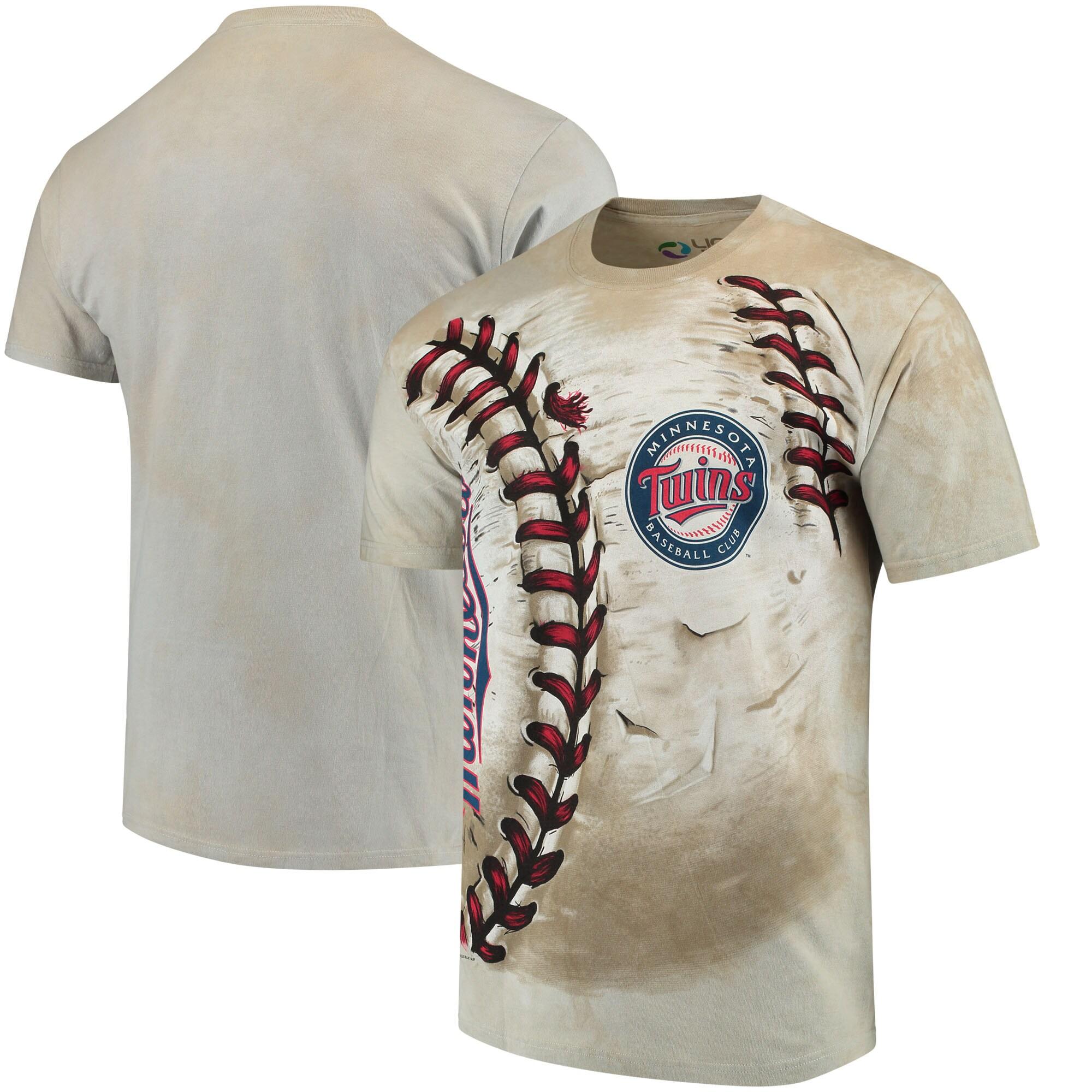 Minnesota Twins Hardball Tie-Dye T- Shirt - Cream