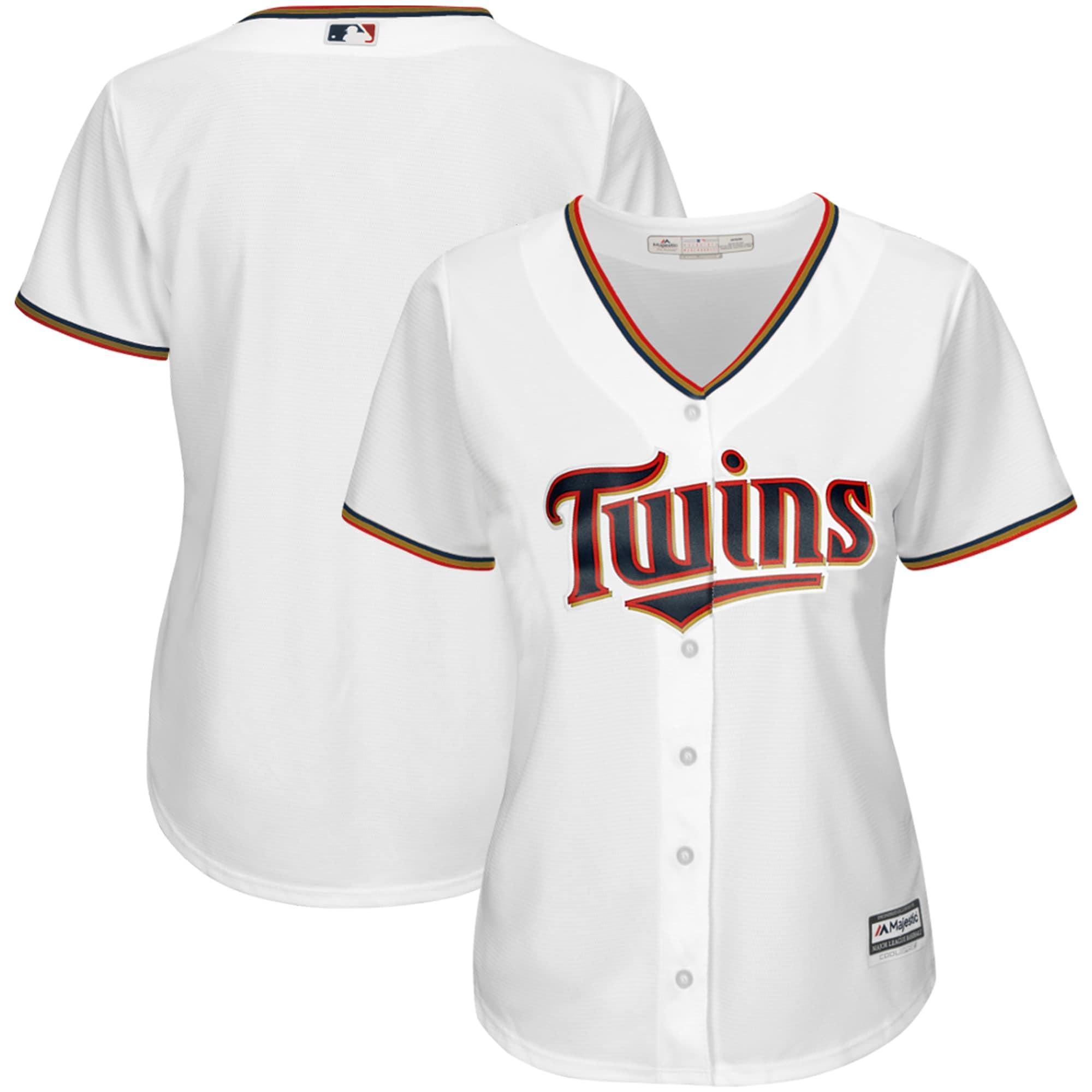 Minnesota Twins Majestic Women's Cool Base Jersey - White